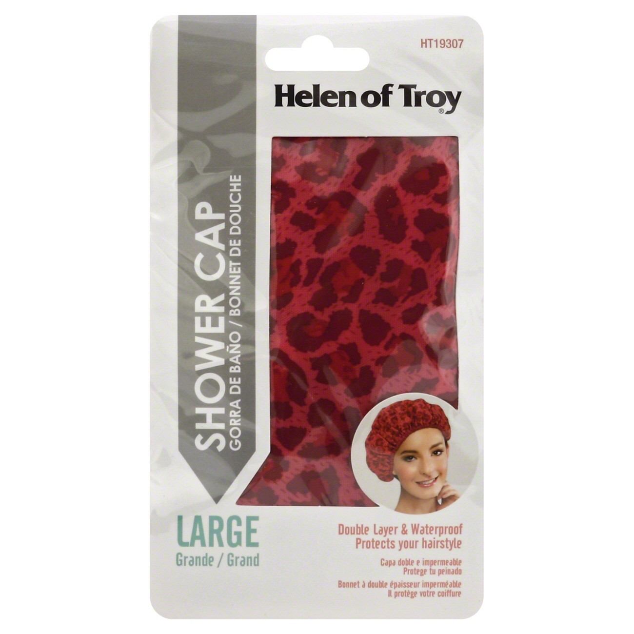 Helen of Troy Animal Print Shower Cap