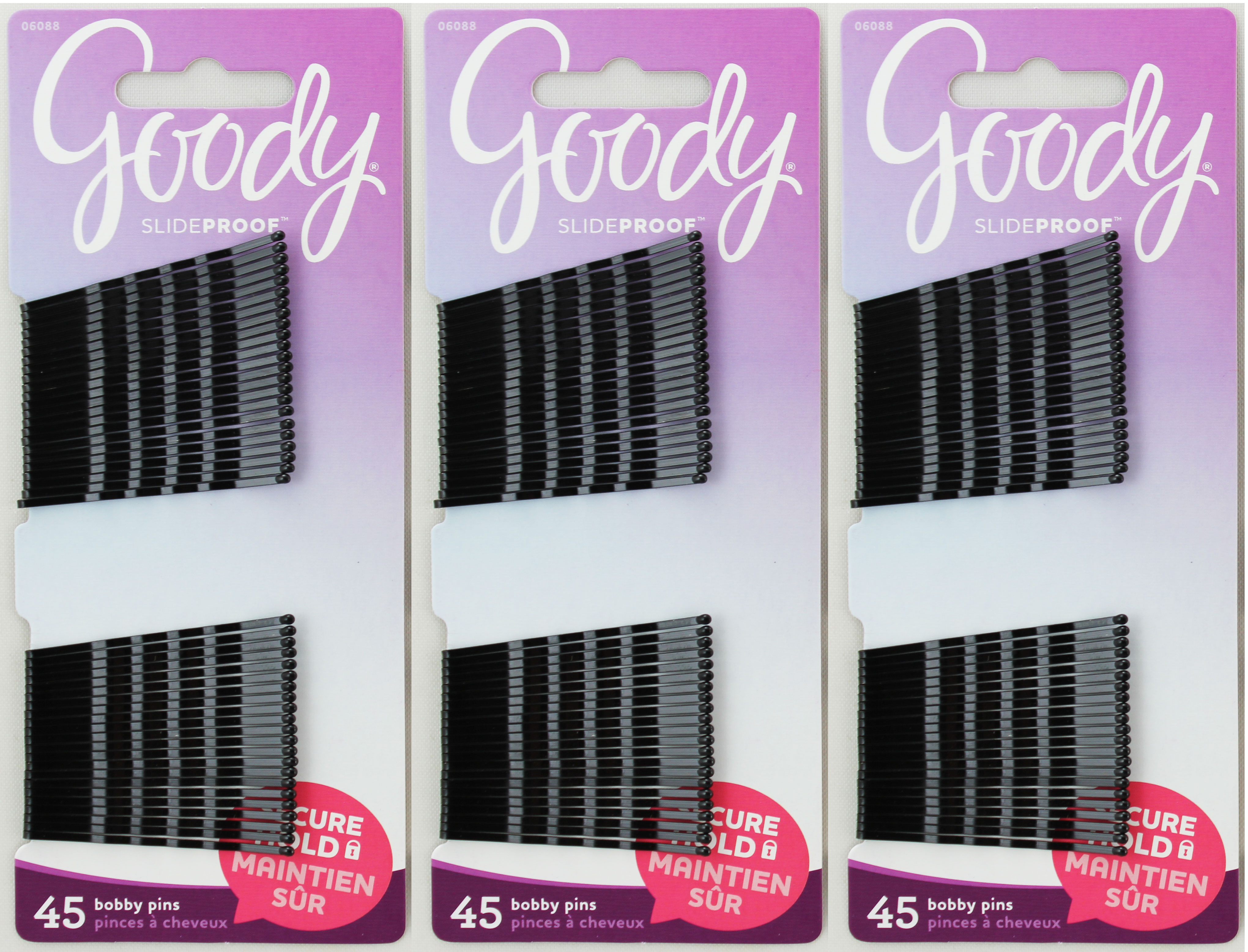 Goody Bobby Pins Secure Hold Black 45ct
