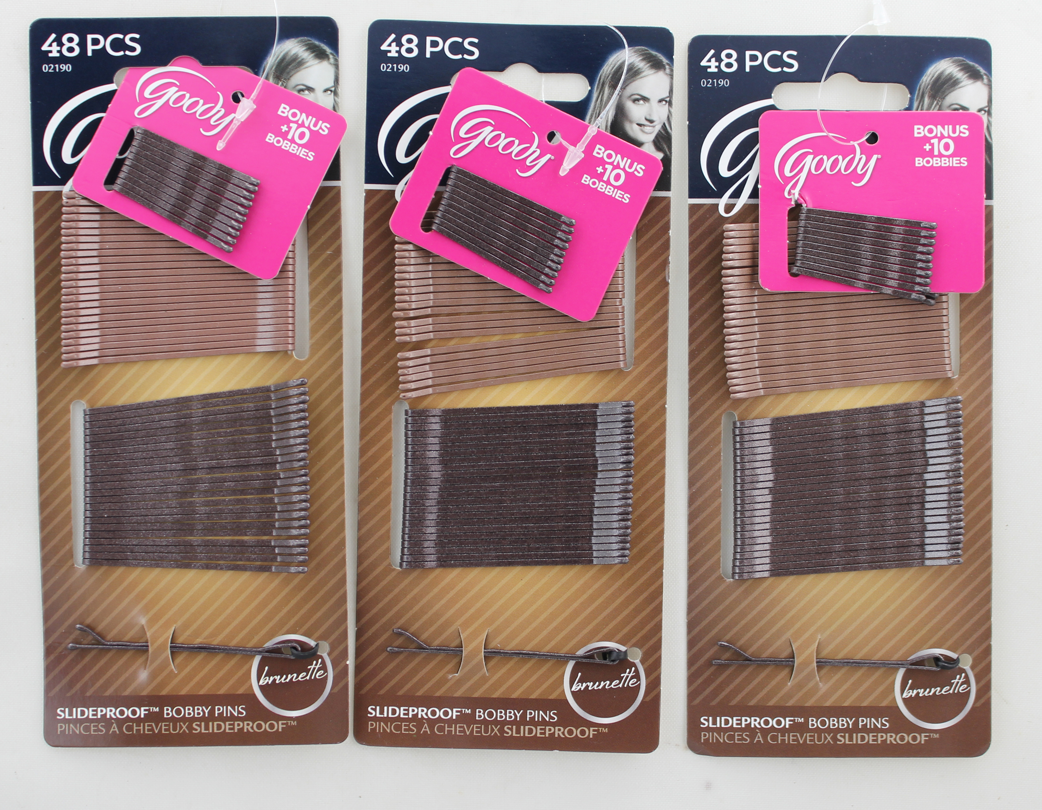 Goody Bobby Pins Brunette, 48 Count