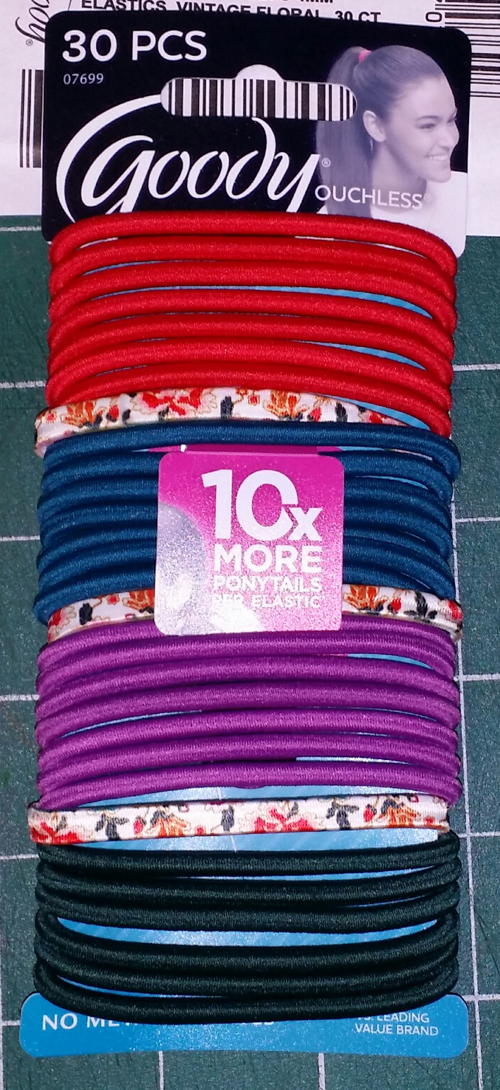 Goody 4mm Elastics Vintage Floral 30 Count