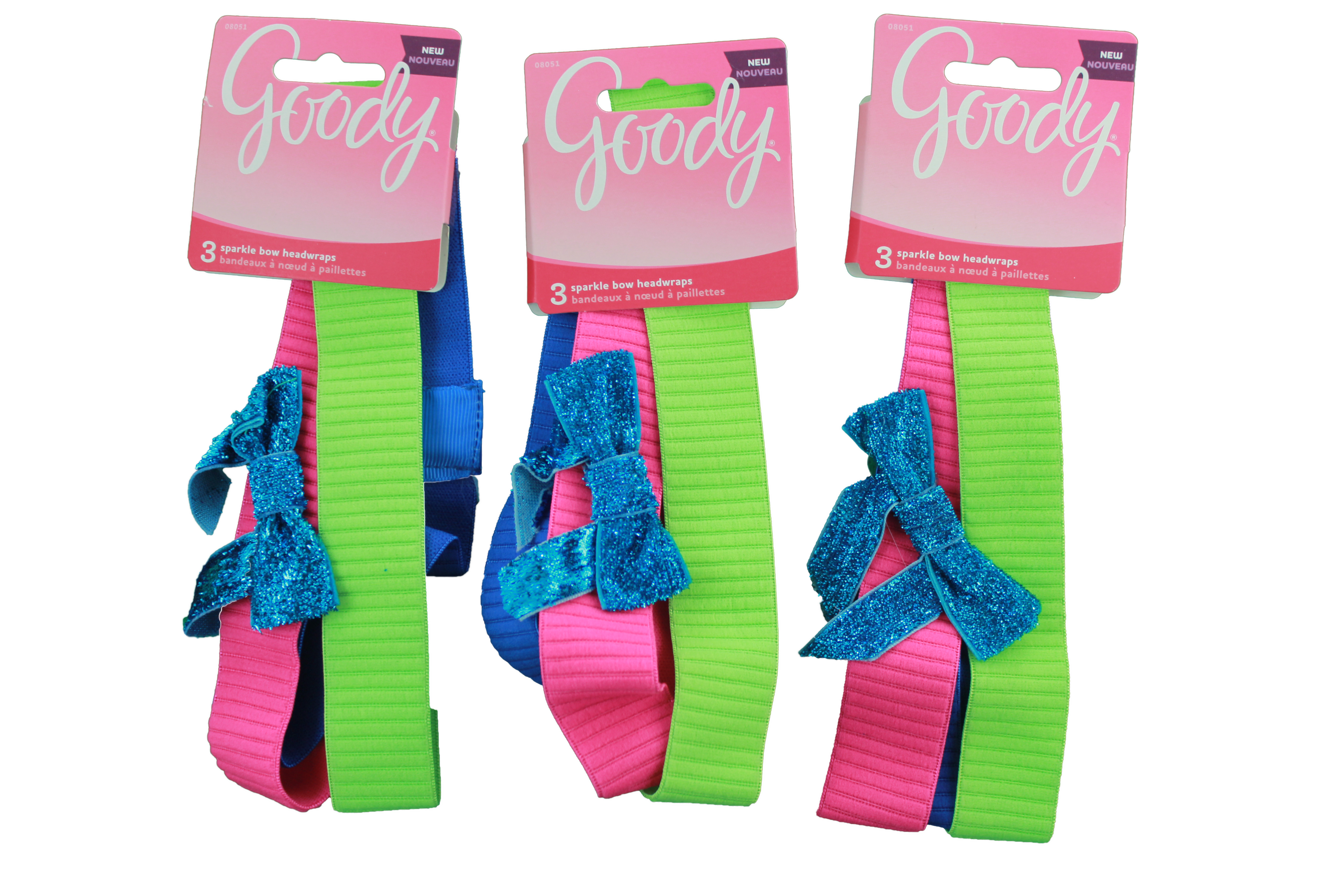 Goody Girls Headwrap With Glitter Bow 3 Count