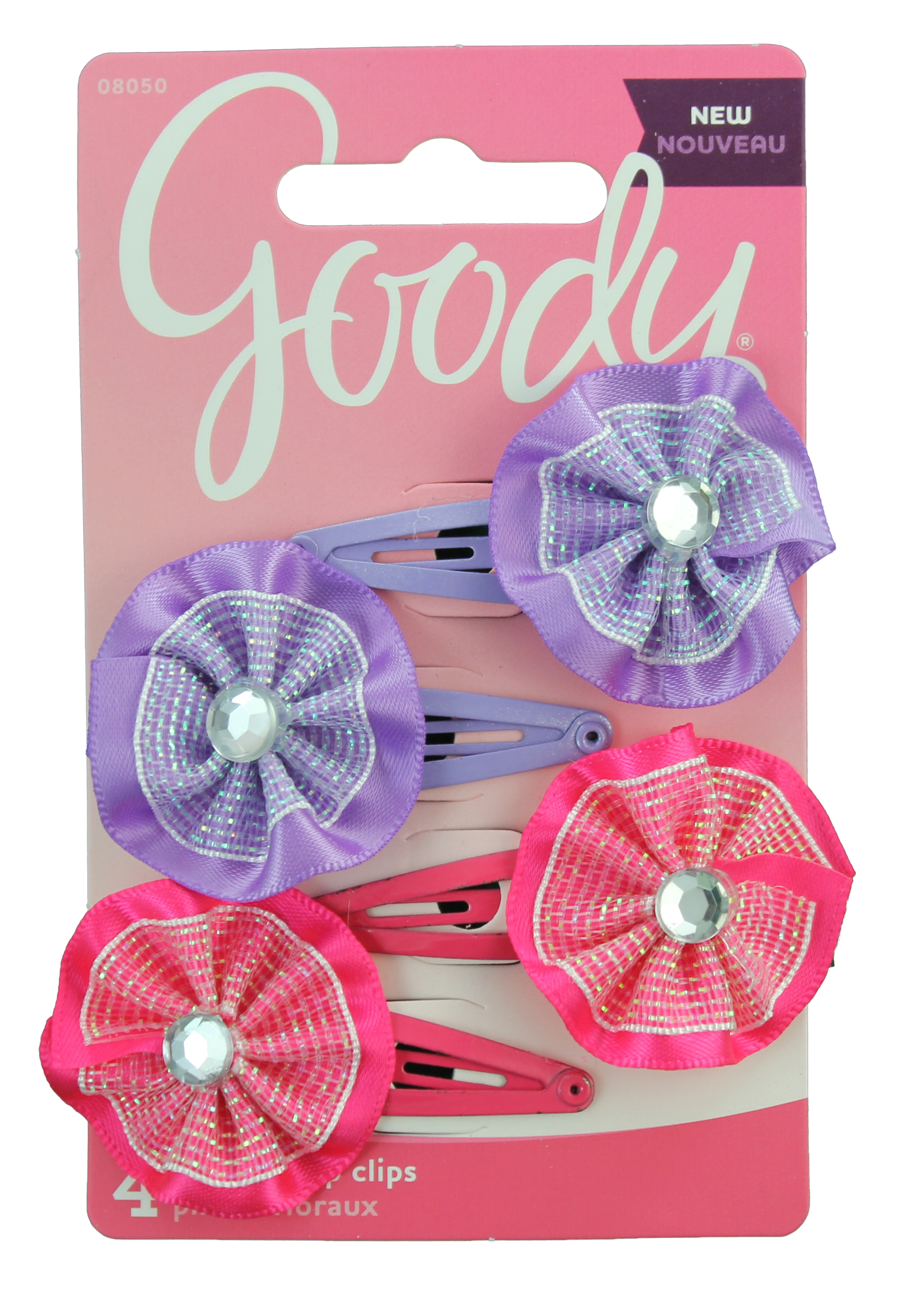 Goody Girls Glitter Flower Contour Clips