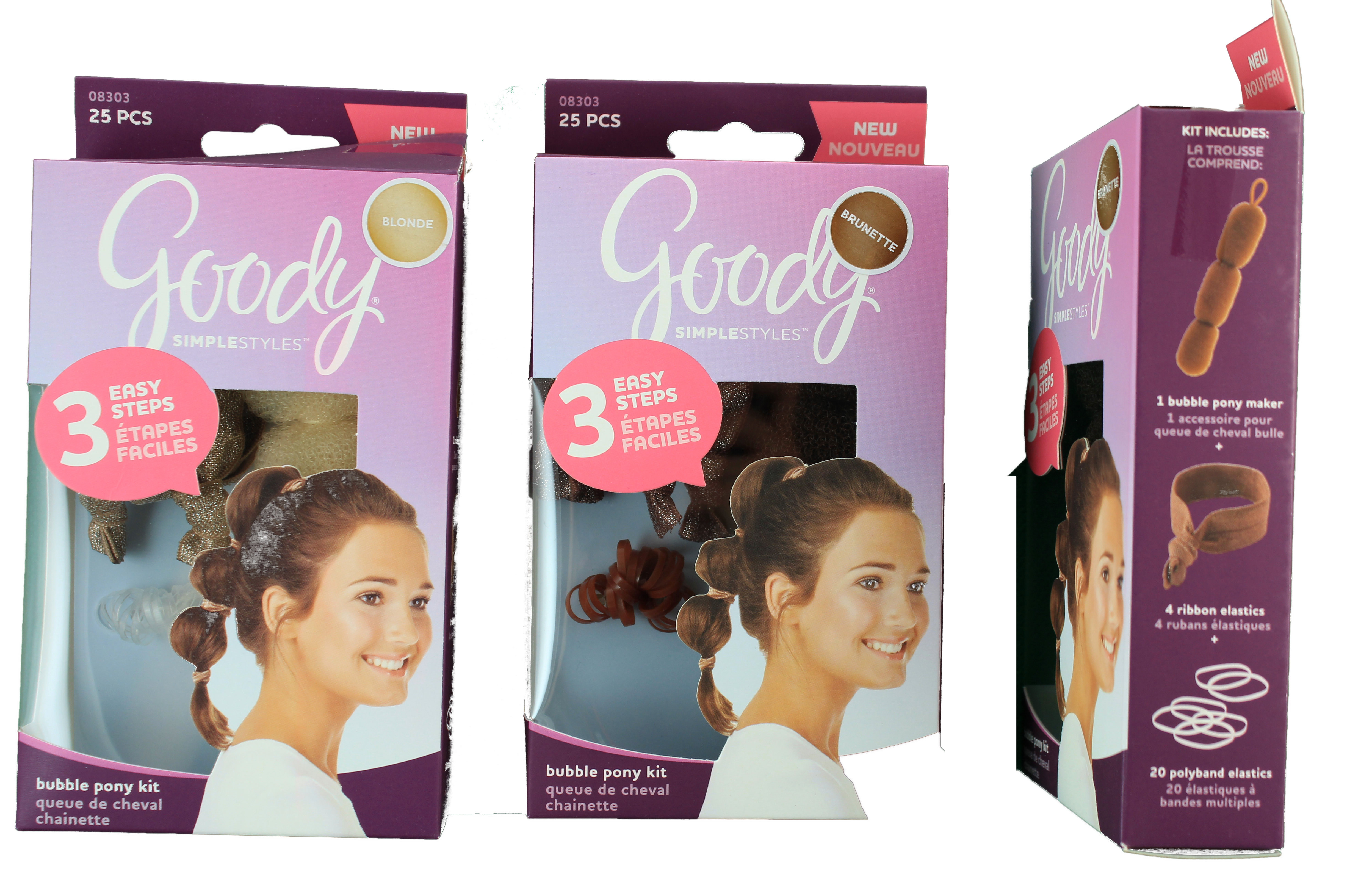 Goody Simple Styles Bubble Ponytail 25 Piece Kit