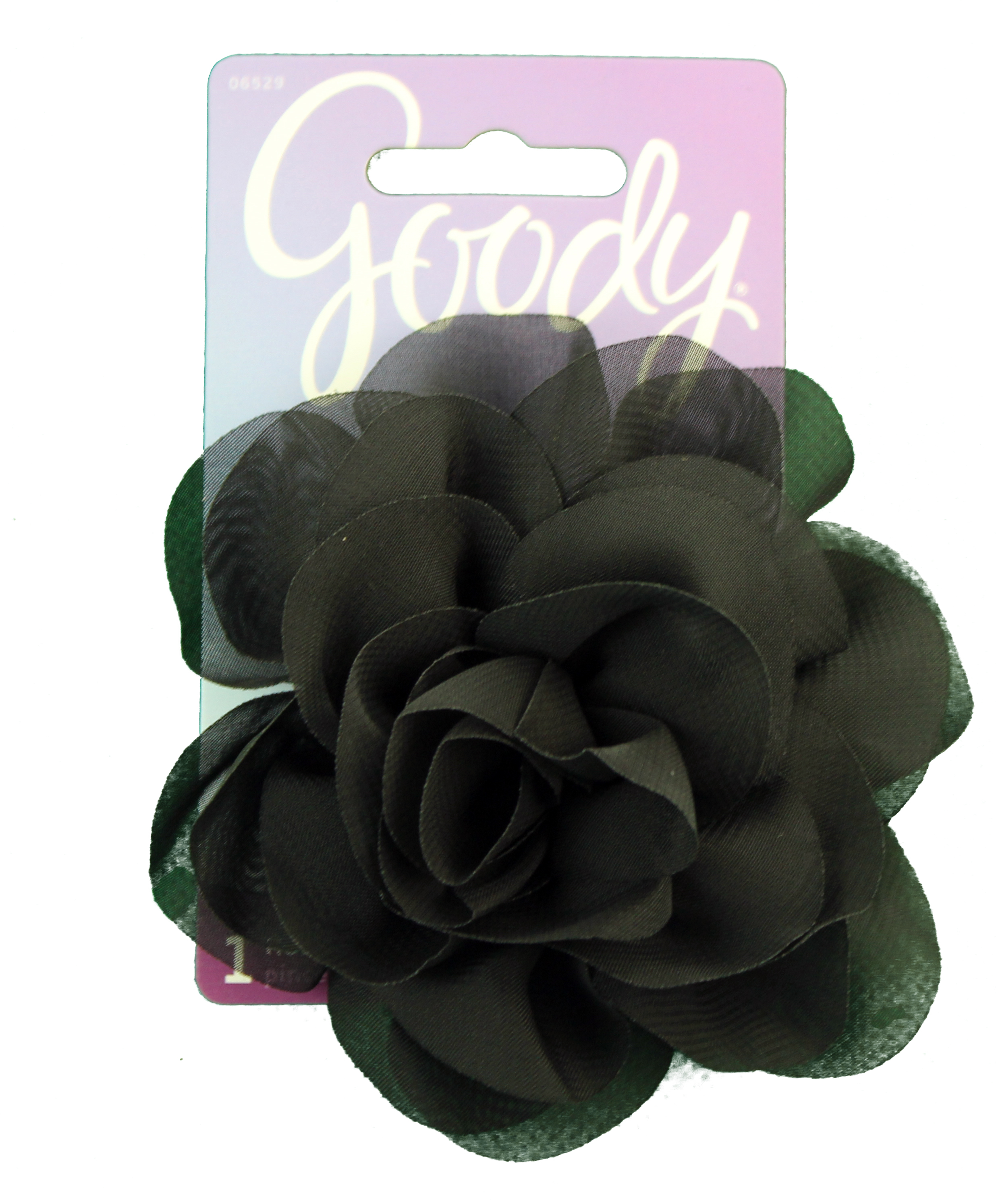 Goody Black Alligator Clip with Pin Flower, 1 CT