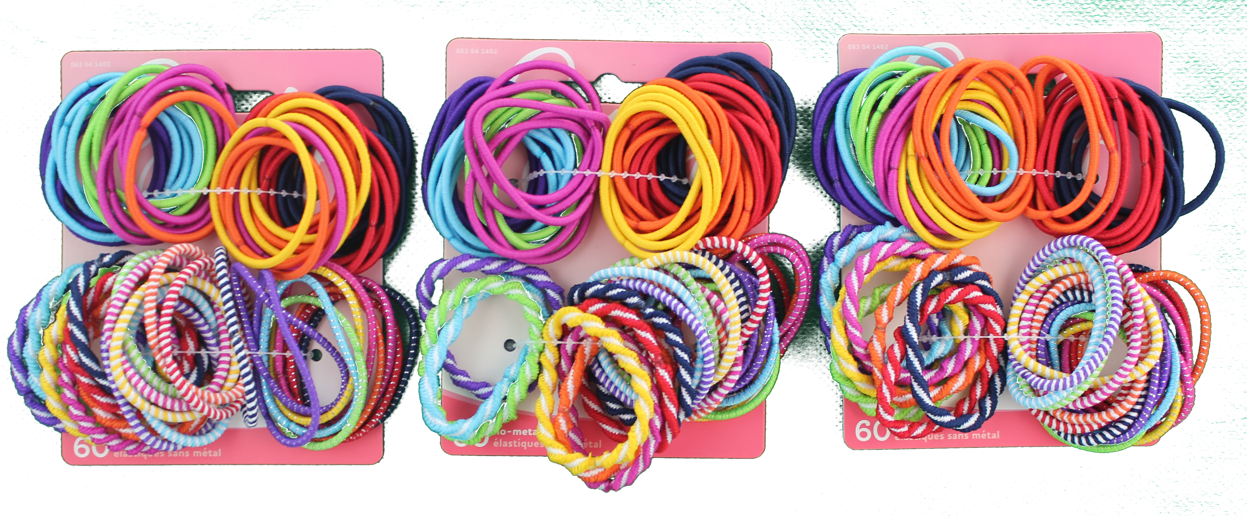 Goody Girls Ouchless Mixed Weave Elastics 60 Count