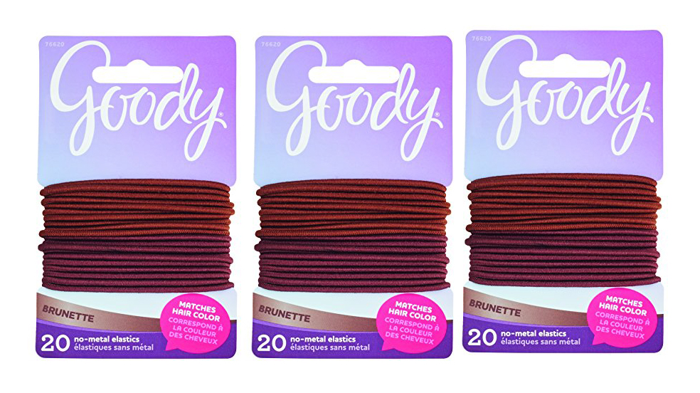 Goody Brunette 2MM Ouchless Elastics 20 Count