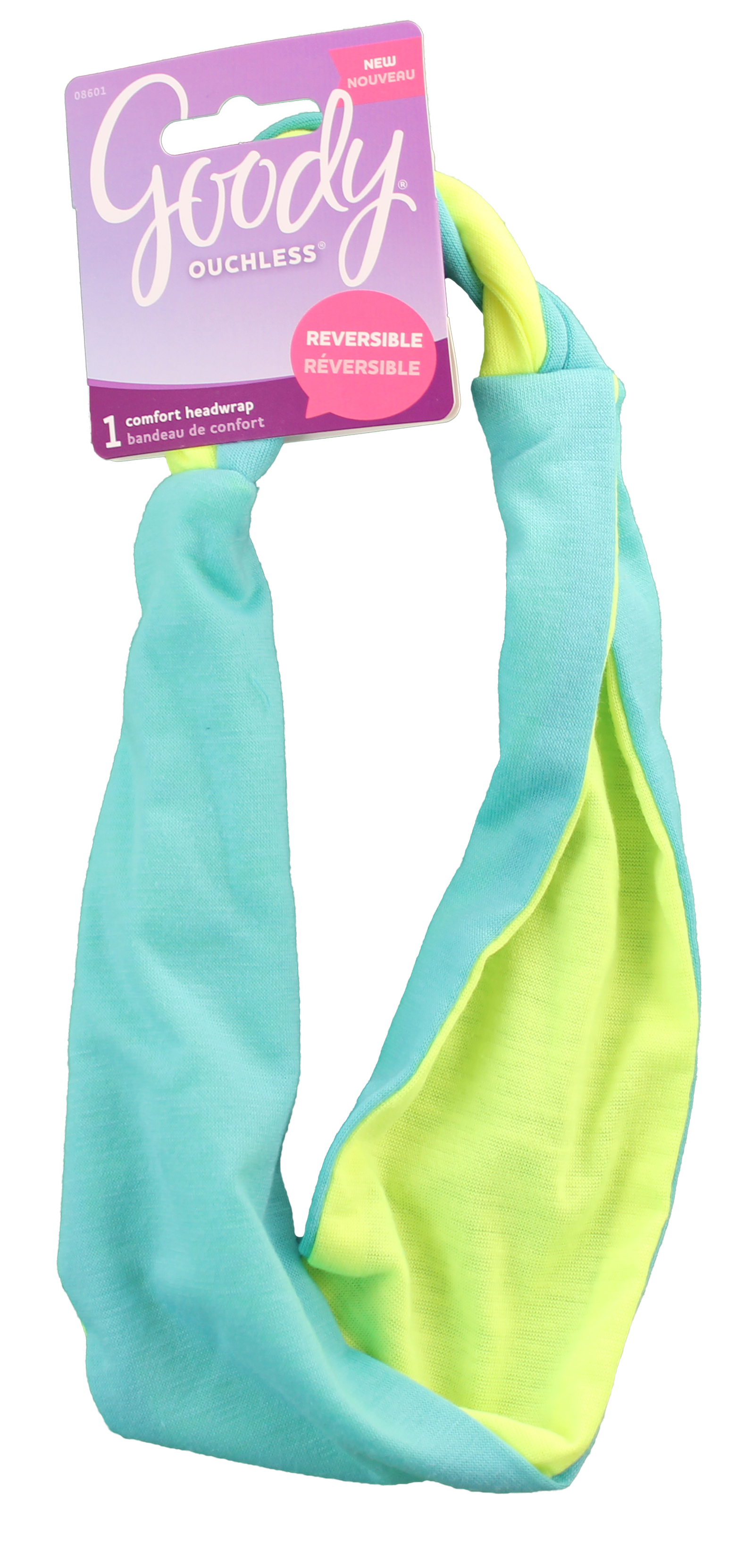 Goody Corporate Ouchless Headwrap Mint And Neon With Braid, 1 CT
