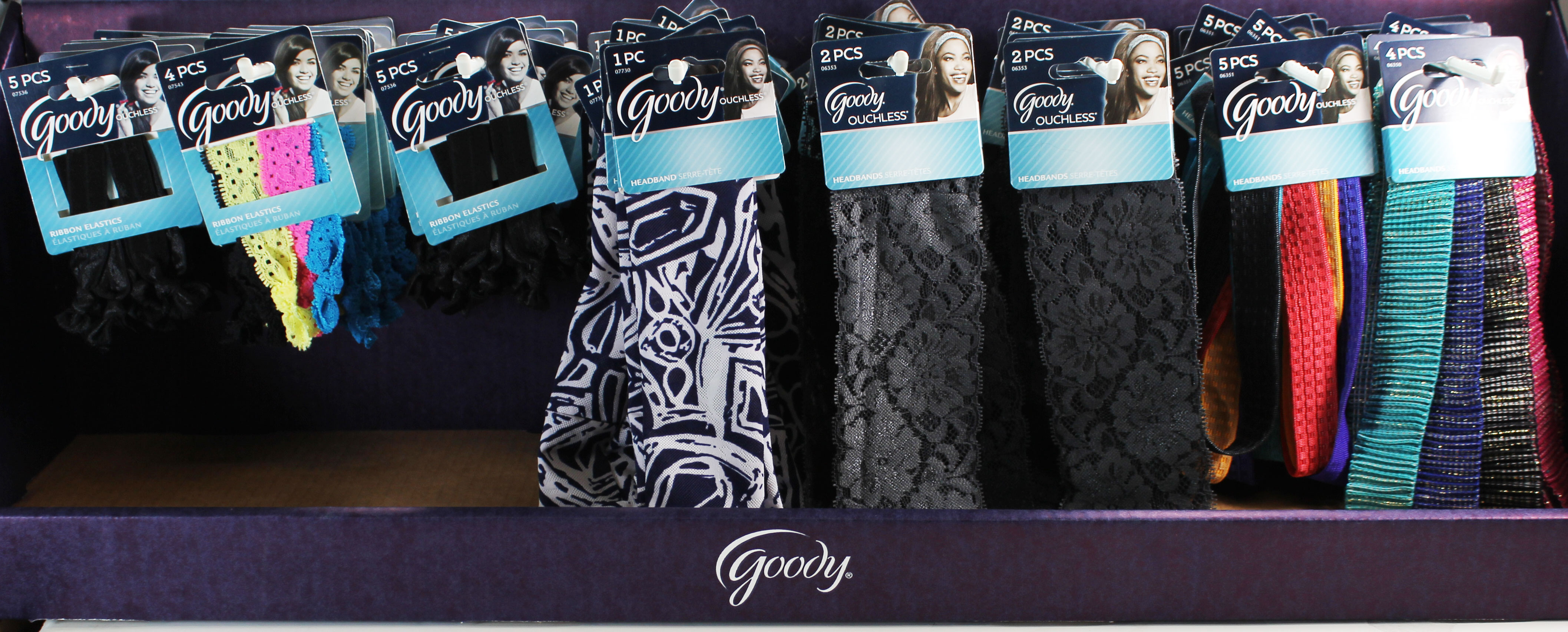 Goody Headwrap/Ribbon Elastic Set w/Display - 48 Packs