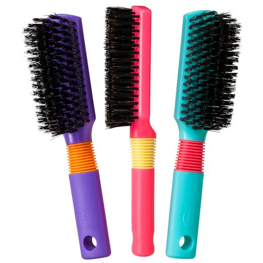 Goody Min Boar Styler Brush in Assorted Spring Colors. - Comes Carded.