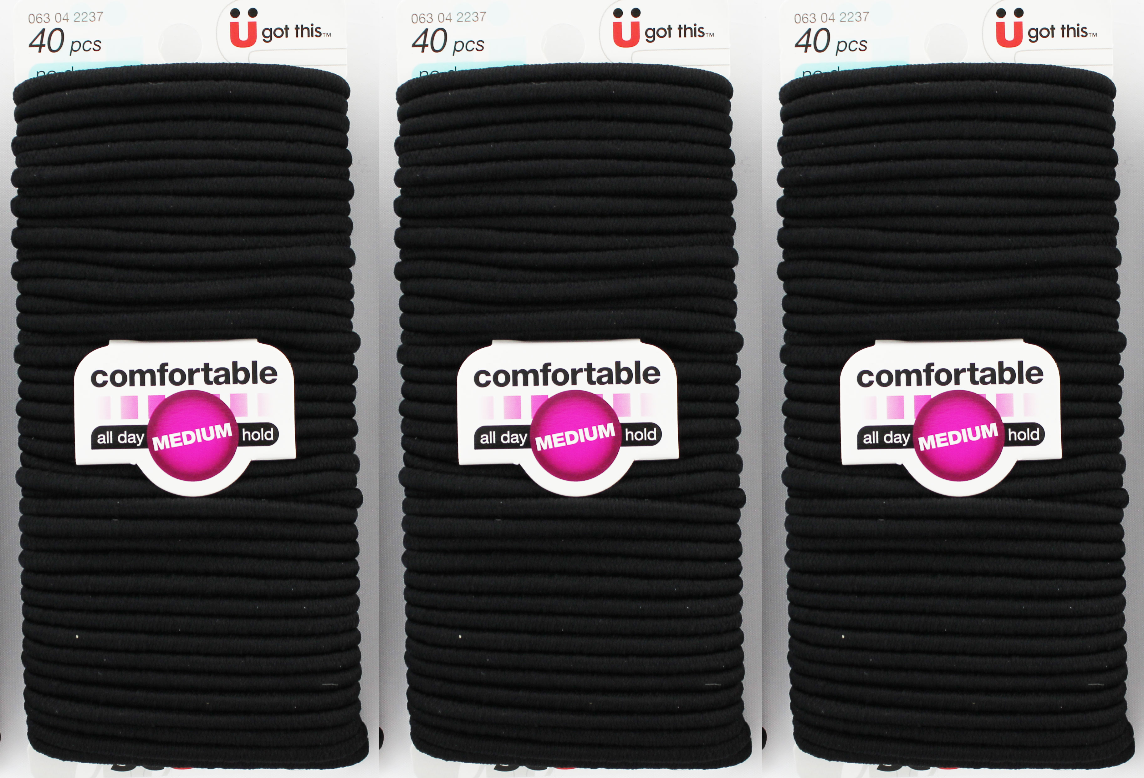 Scunci Comfortable All Day Medium Hold No Damage Elastics 40ct