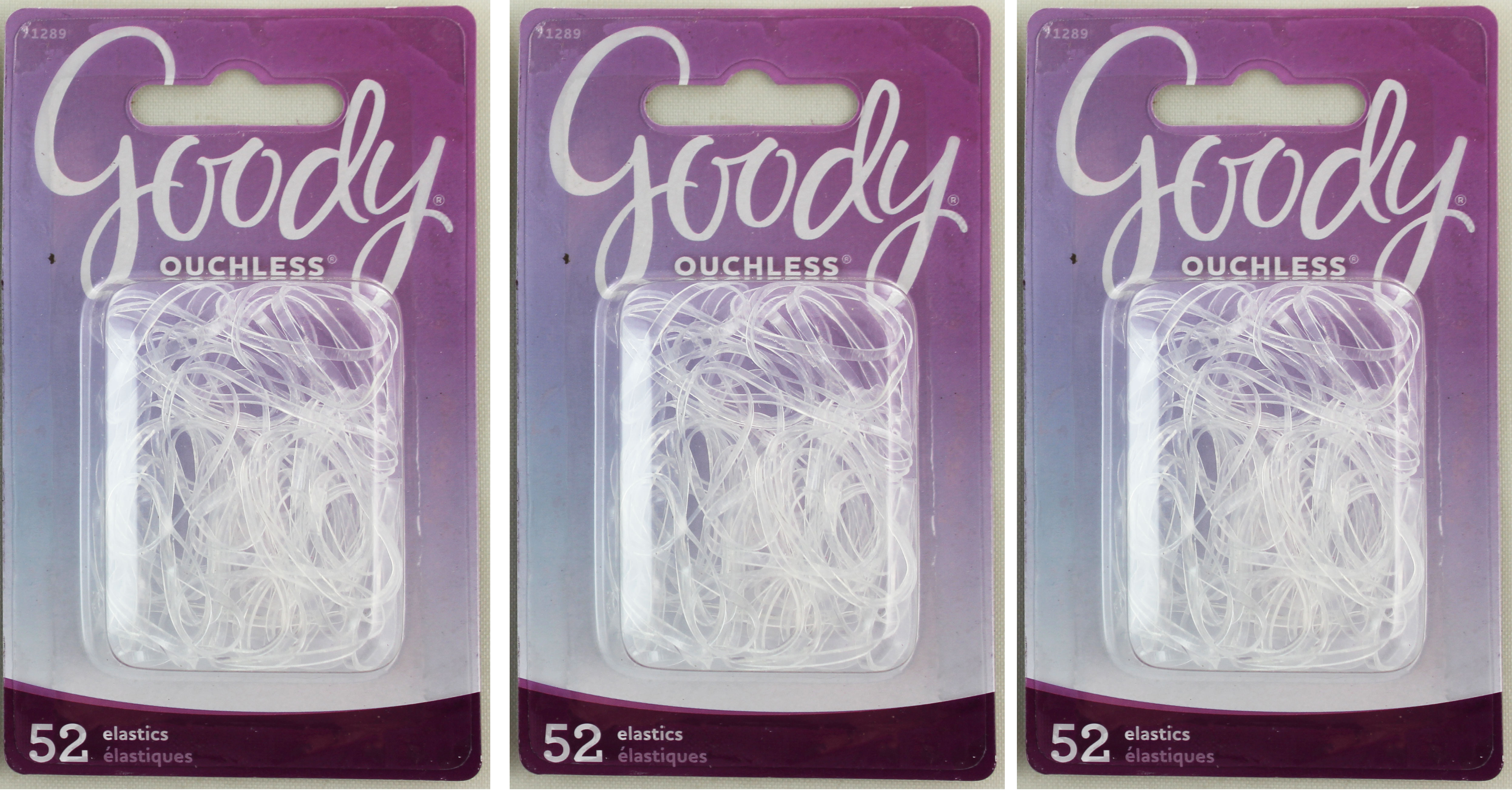 Goody Elastic Latex Poyurethane Rubber Lucid-Transparency 52ct