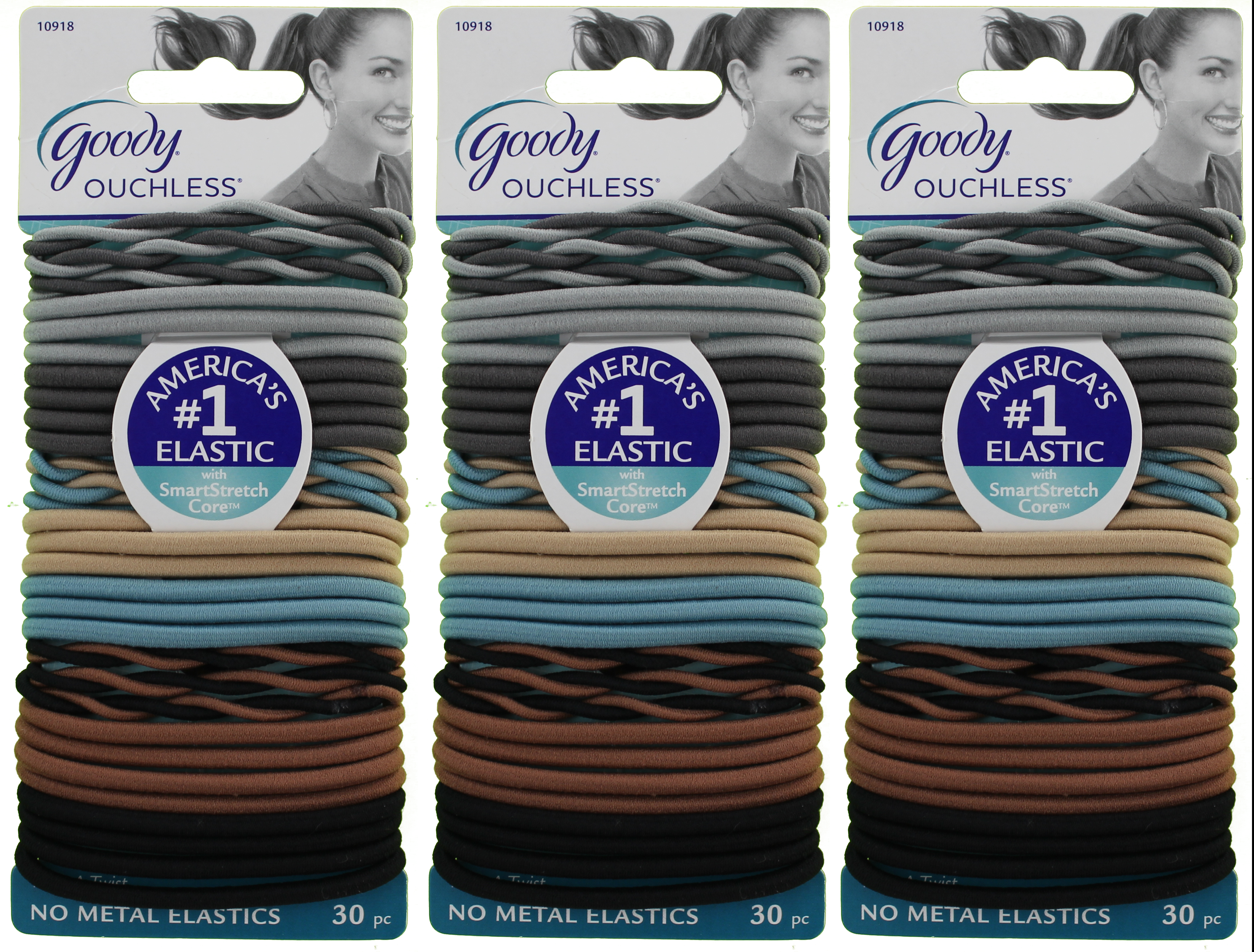 Goody Ouchless Elastics, With A Twist, 30 Count