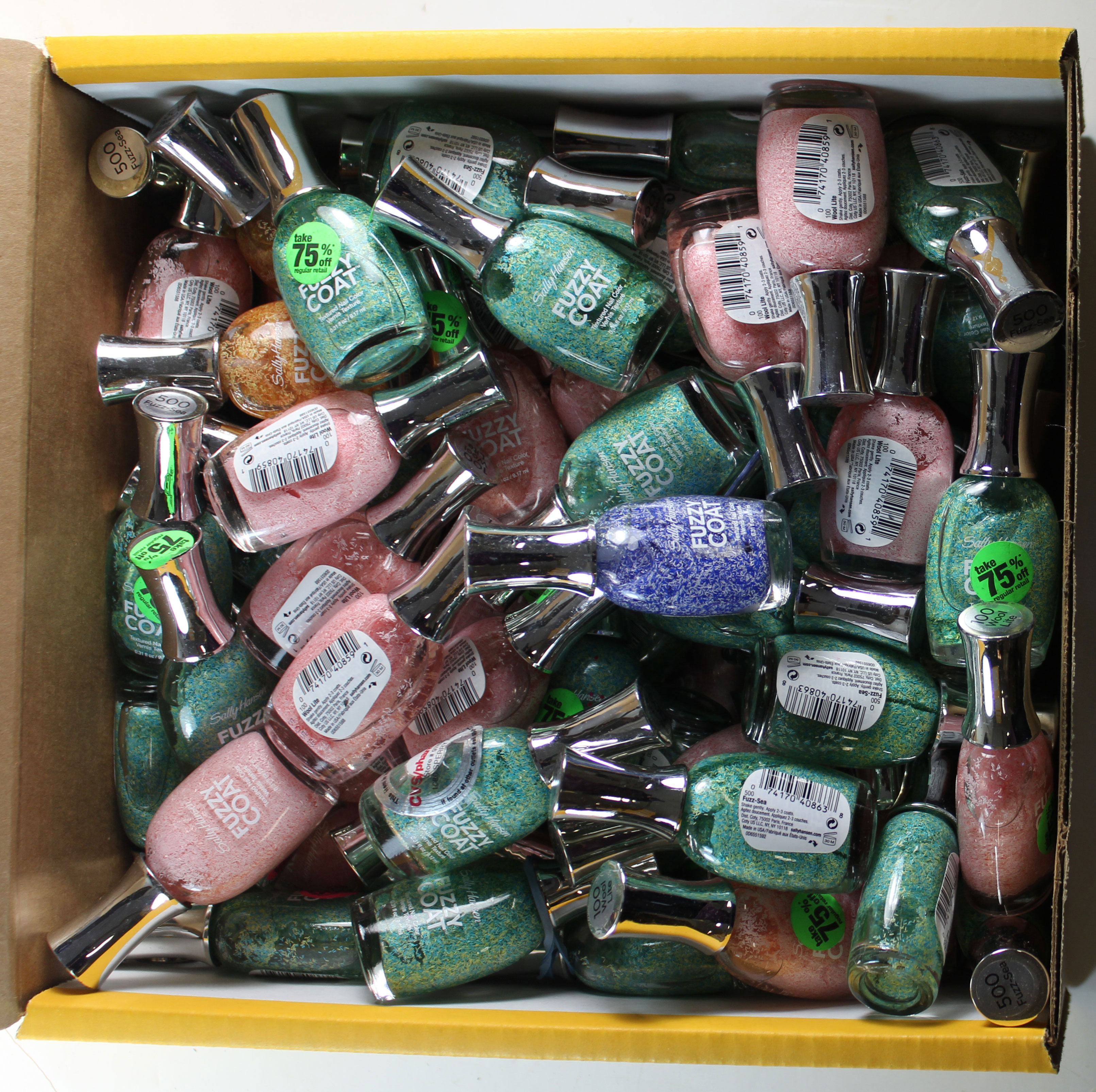 Sally Hansen Fuzzy Textured Top Coat 72 LOT MIX