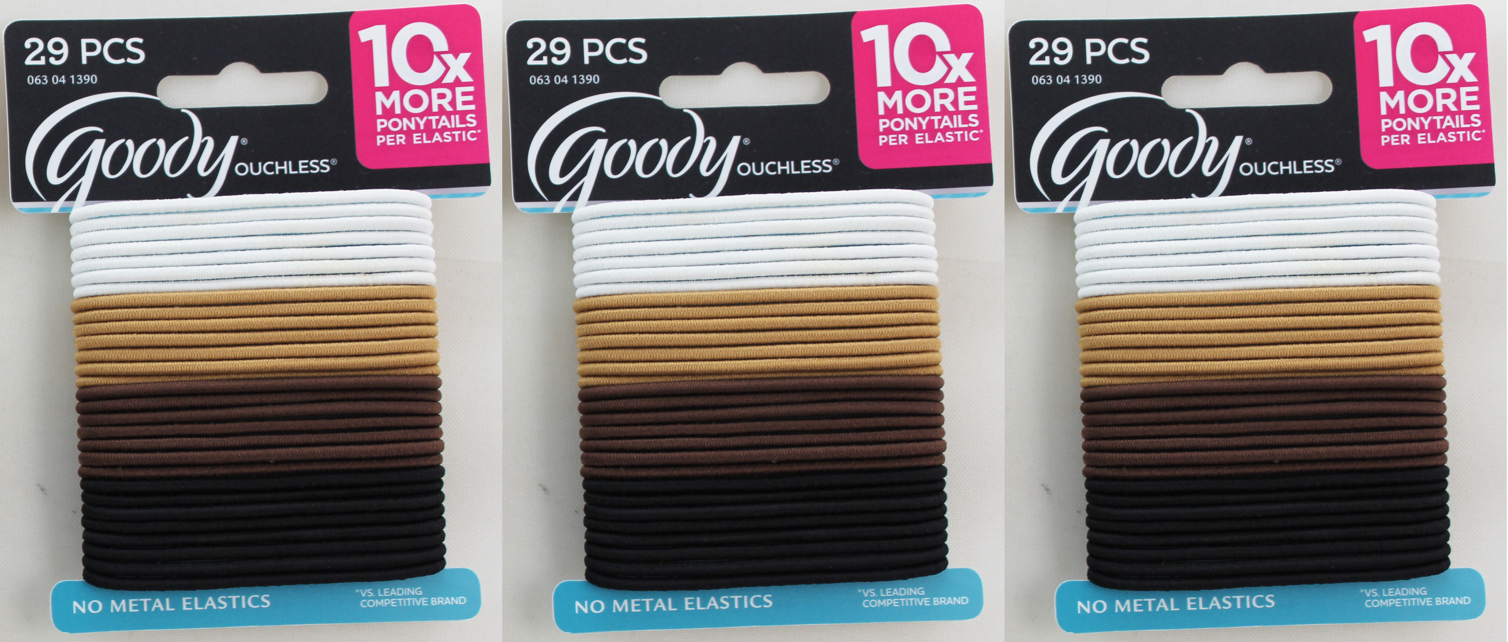 Goody Ouchless Elastic Ponytailer Tie Backs 29-Pack