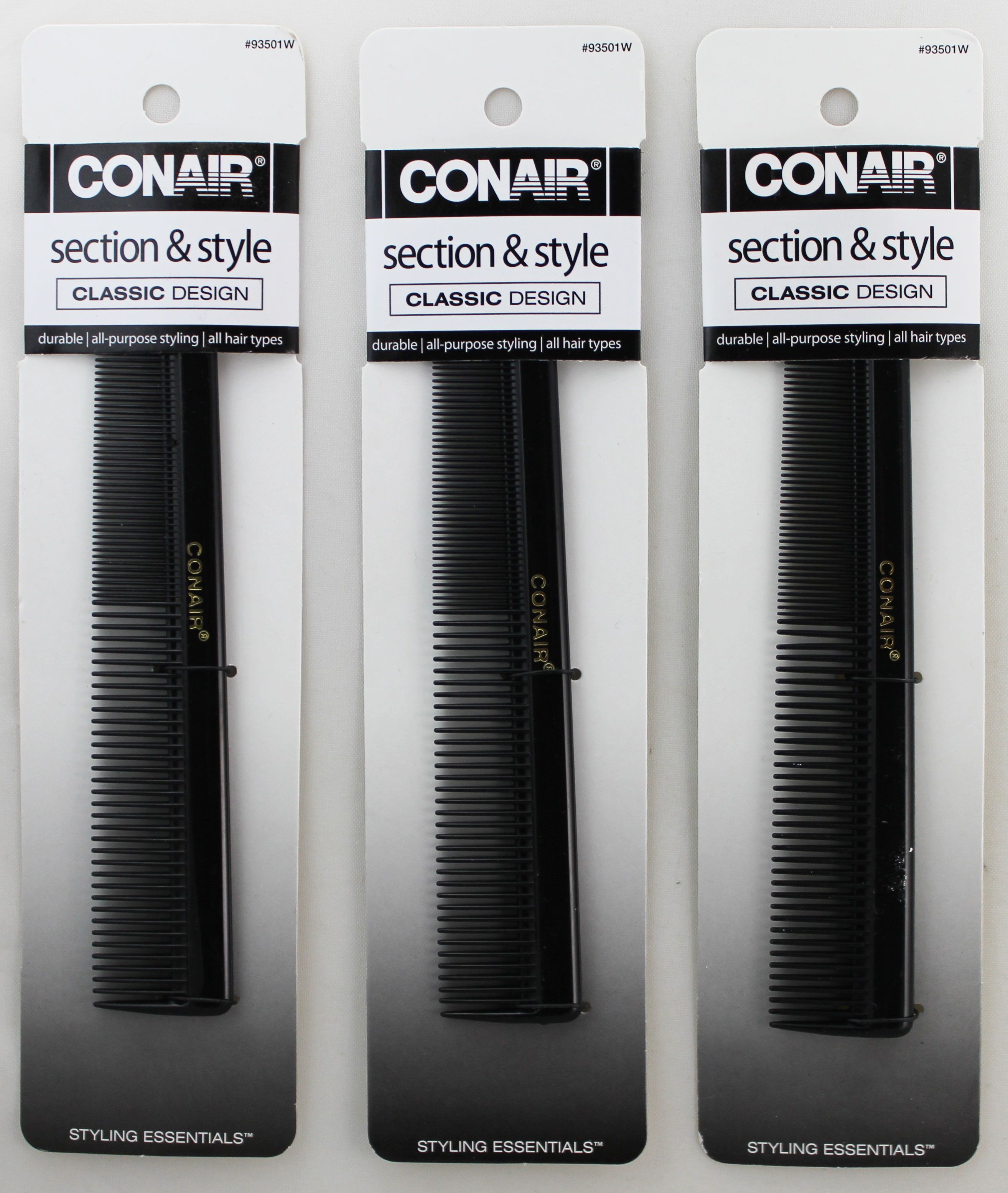 Conair Section & Style Classic Design All-Purpose Comb