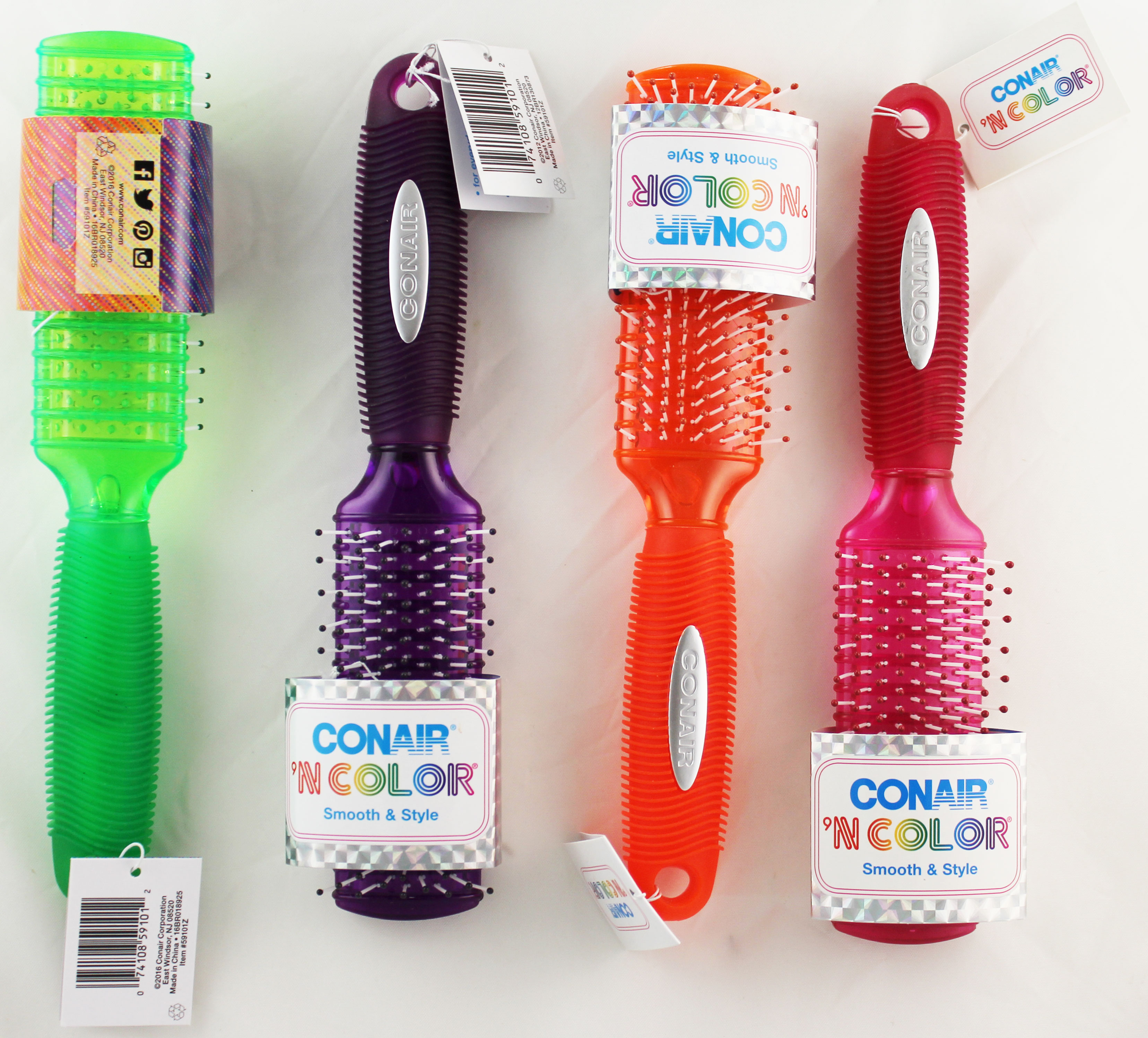 Conair 'N Color Smooth & Style Gel Grip Handle Comfort Hair Brush - 1 Count