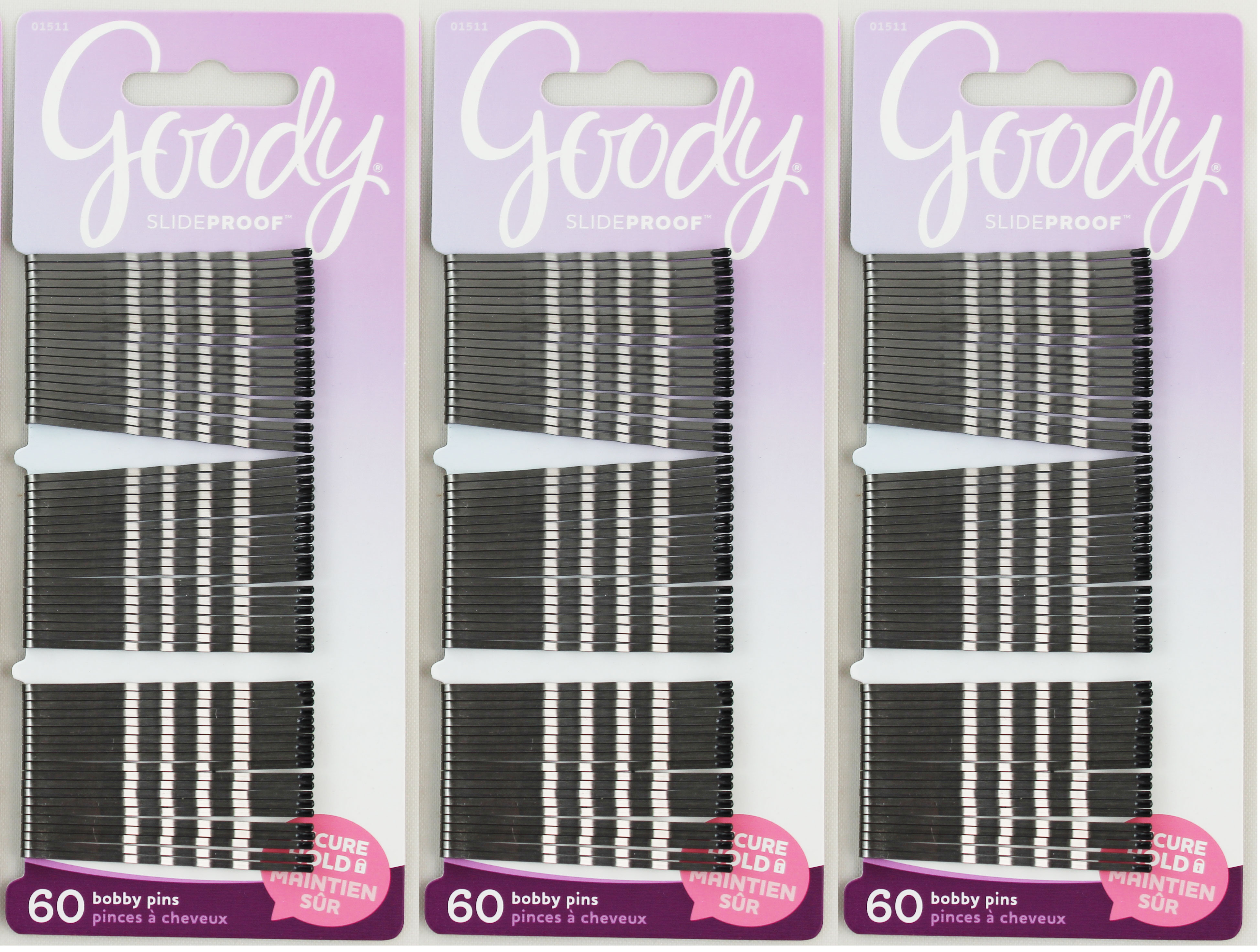 Goody Bobby Pins Secure Hold Grey 60ct
