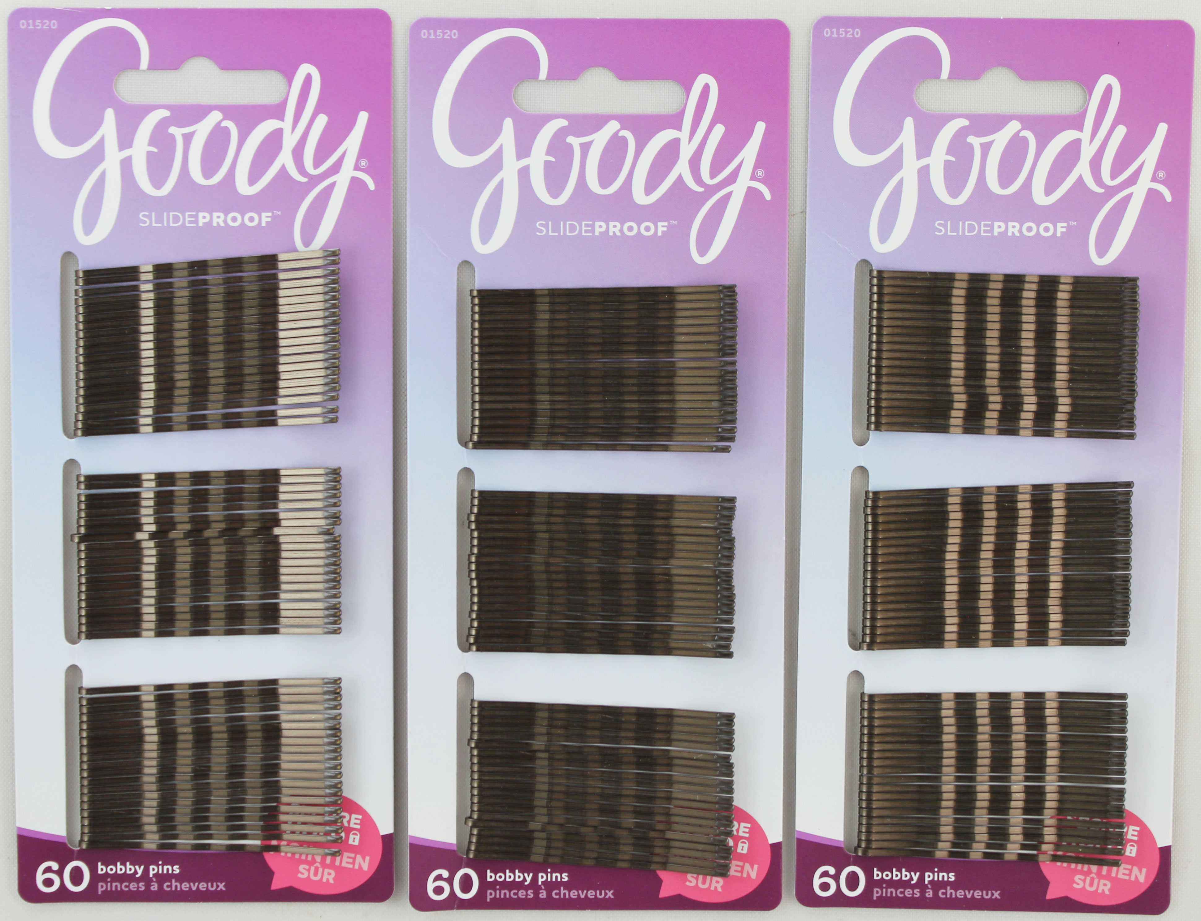 Goody Secure Hold Slide-Proof Bobby Pins 60ct Brown