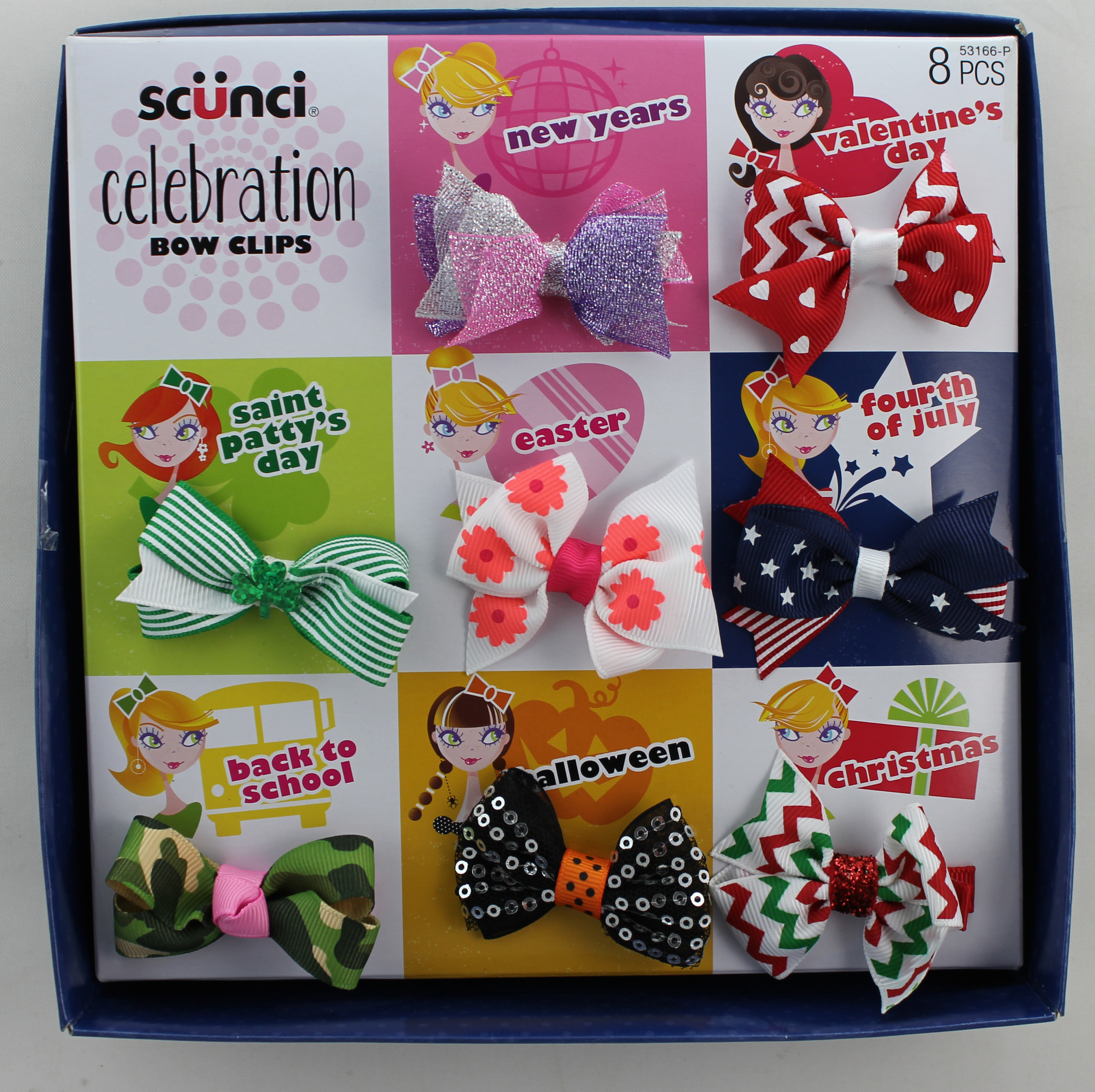 Scunci Girl 8 Pack Girl Bow Gift Sets