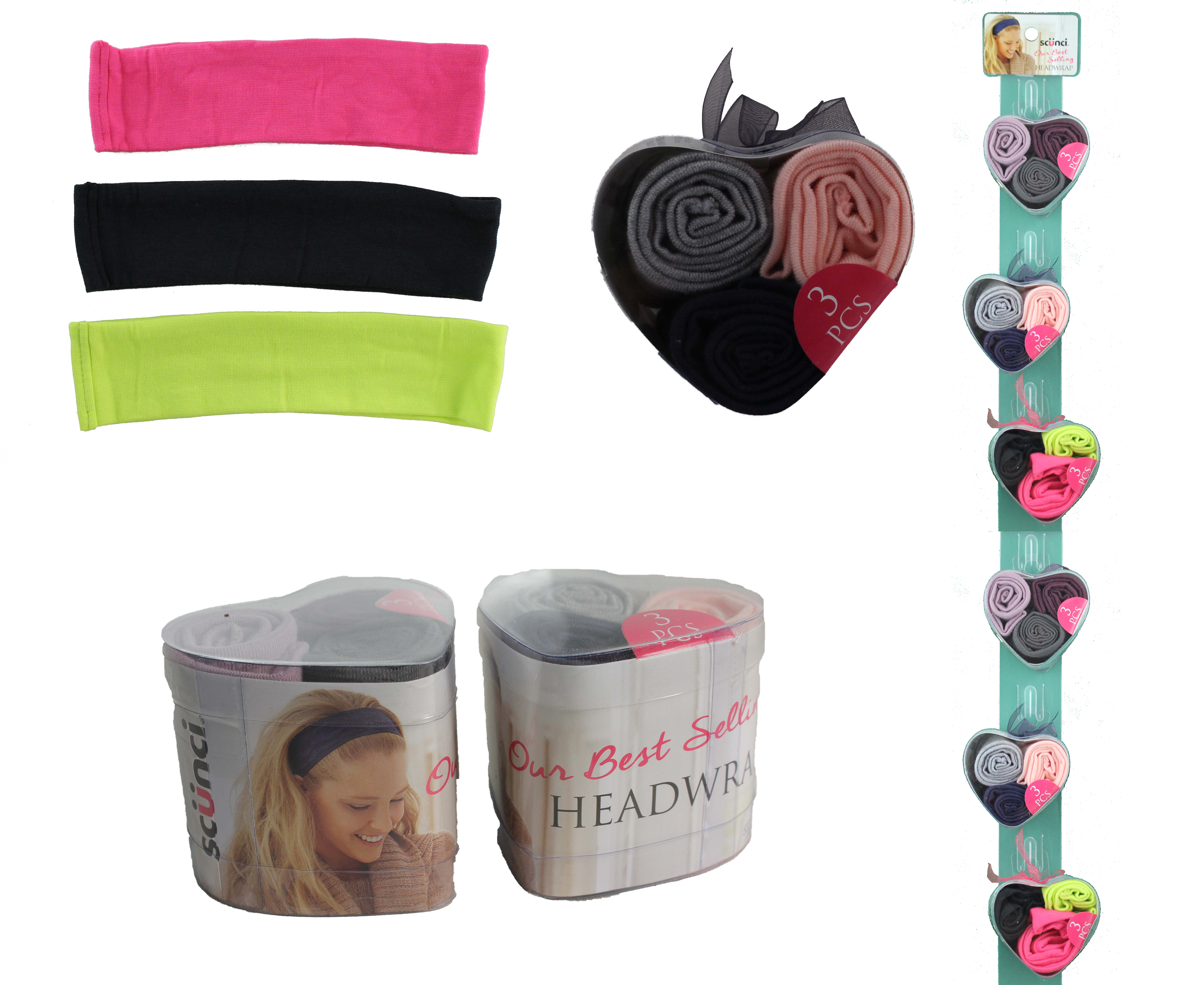 Scunci 3pc Headwraps in Heart