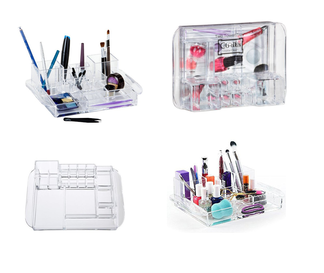 Caboodles Two Tower Acrylic Organizer Tray