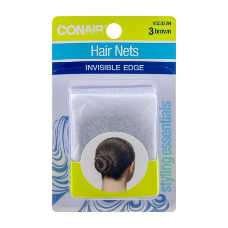 Conair Brown Hair Nets 3 CT