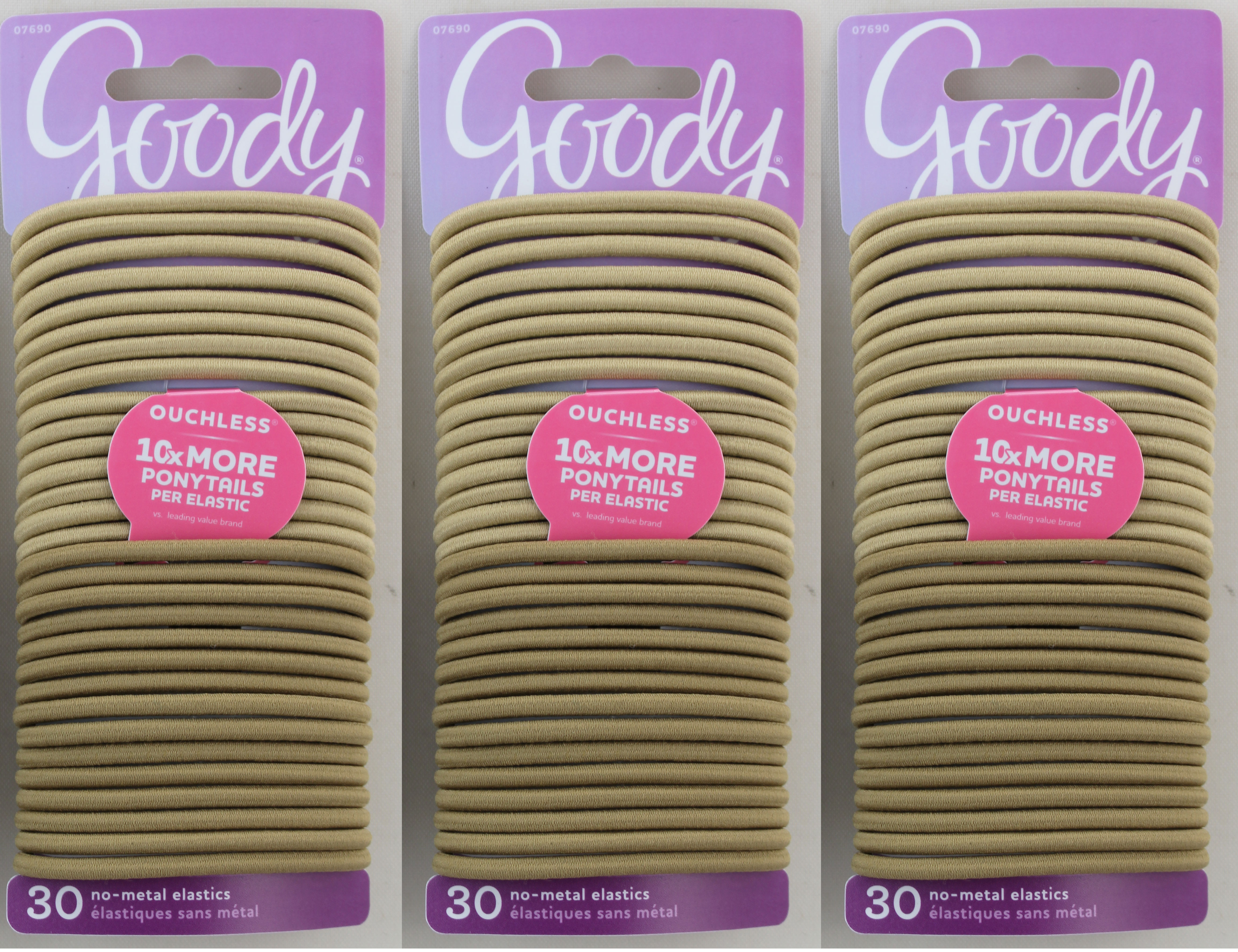 Goody Ouchless No-Metal 4mm Elastics Blonde 30ct