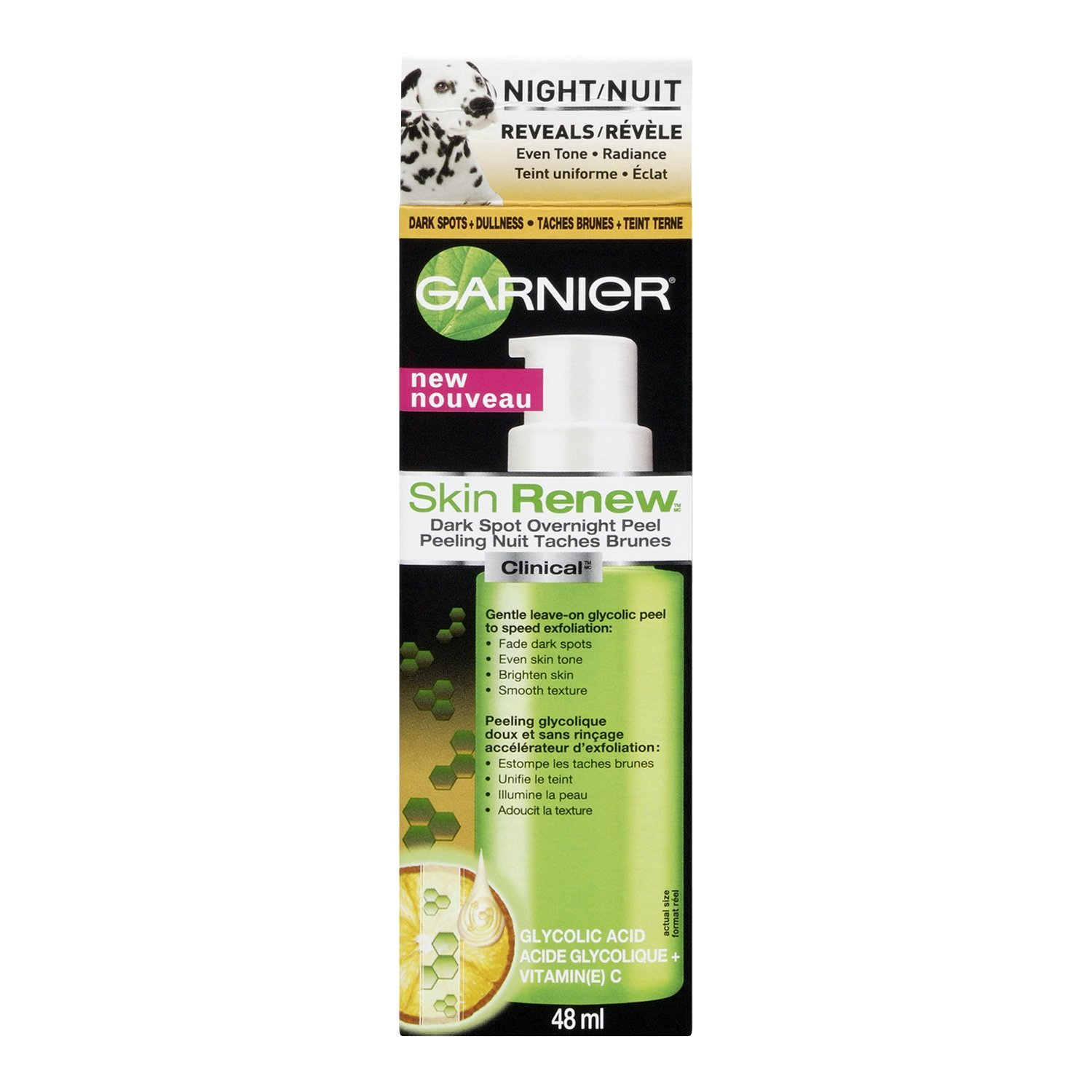 Garnier Skin Renew Clinical Dark Spot Overnight Peel, 1.6 Fluid Ounce