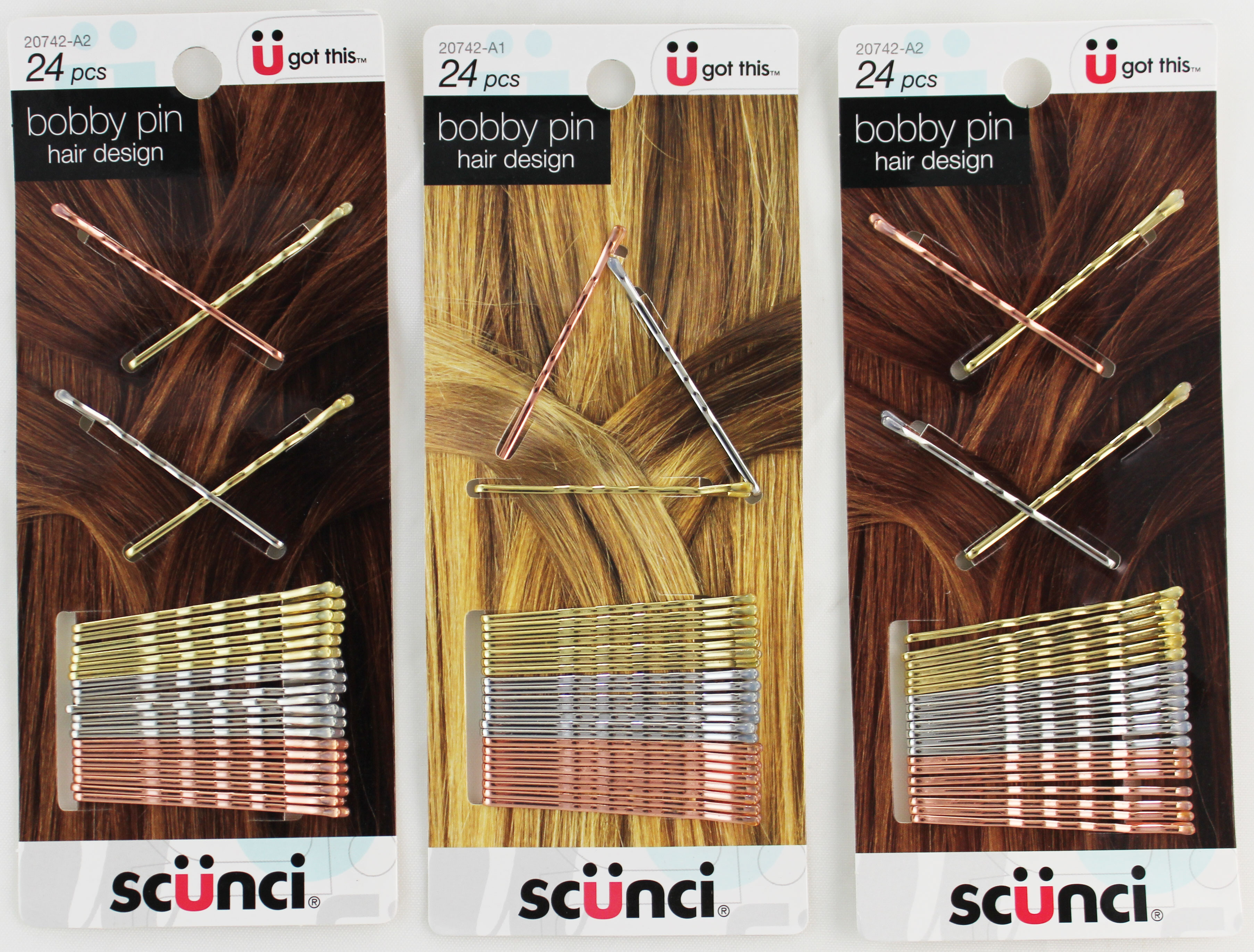 Scunci Bobby Pin Hair Design Clips - 1ct