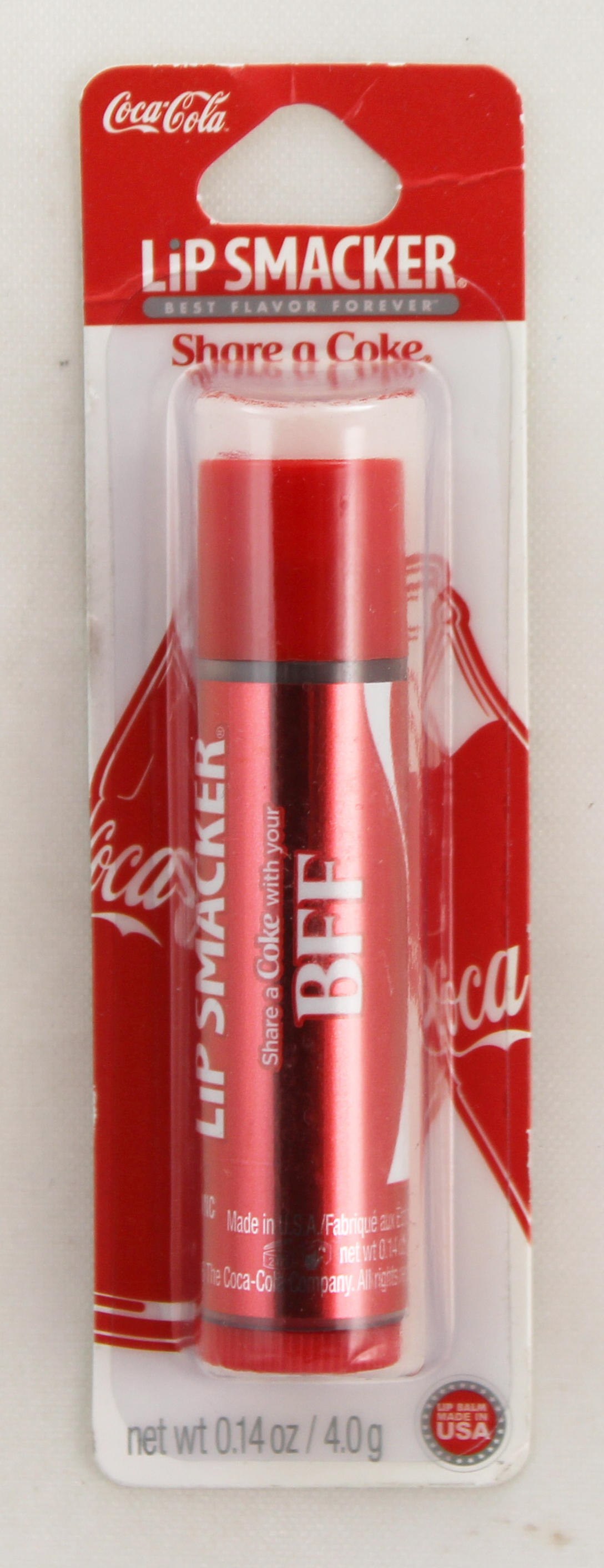 Lip Smackers By Bonne Bell Classic Coke Flavored Lip Balm/Chap Stick. Carded/ Case Pack only