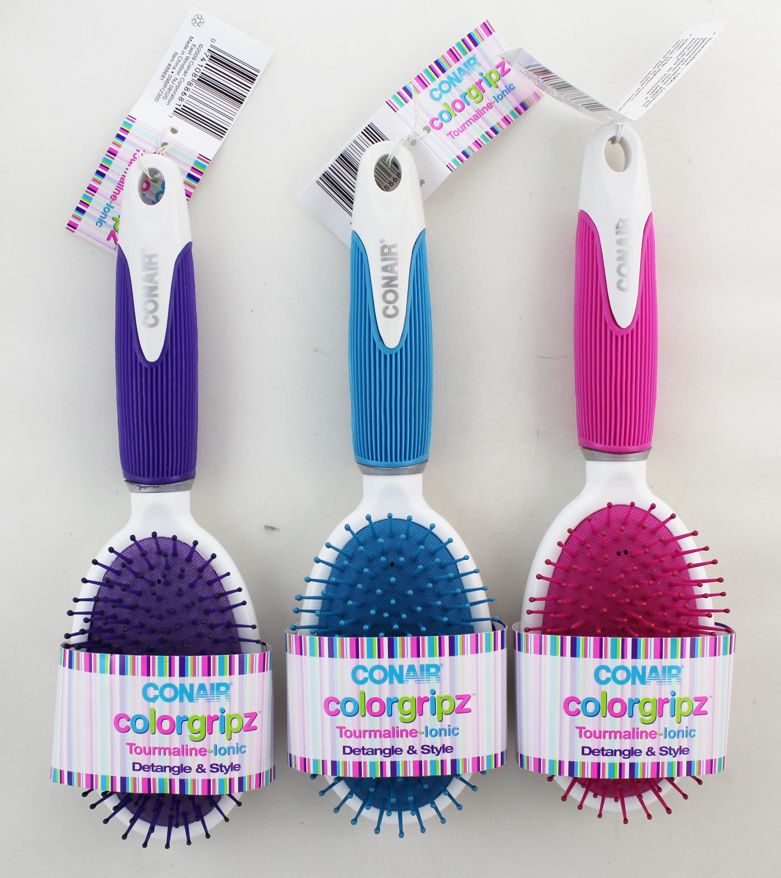 Conair ColorGripz Oval Cushion Hair Brush