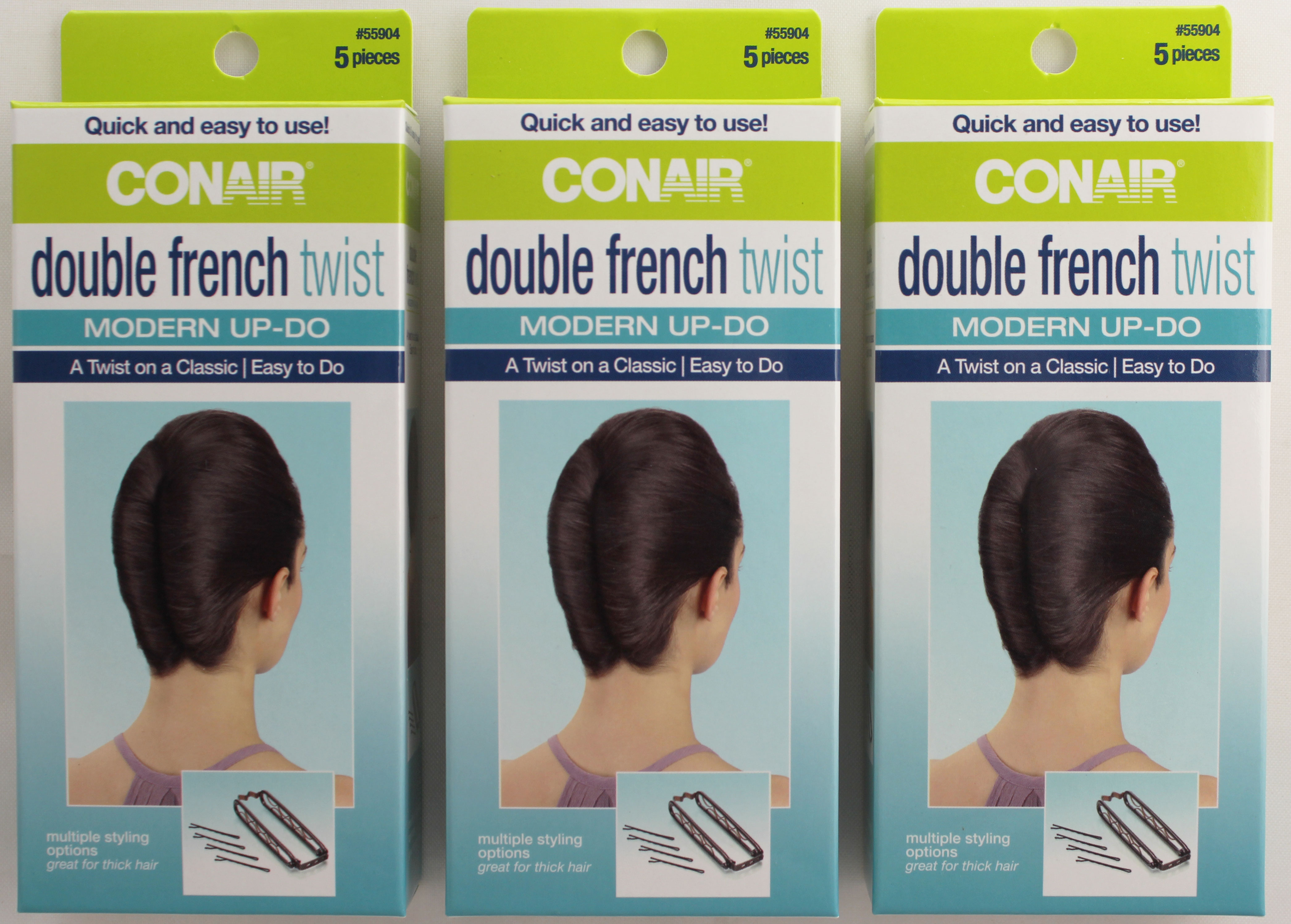 Conair Double French Twist Up- Do 5-Count Kit