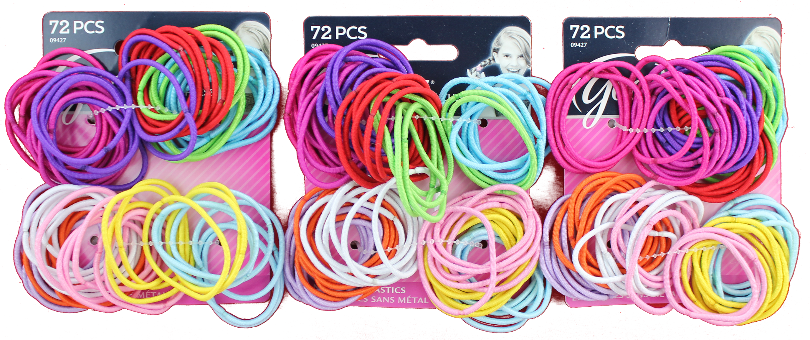Goody Ouchless Clasp Free 2mm Elastics Multi-Colors 72ct