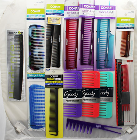 Brand Name Comb Lot - Goody, Conair, and Remington