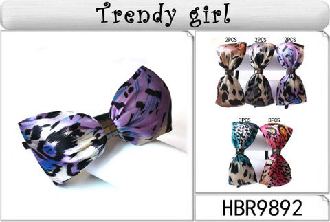 ♥ Satin Multiple Colored Animal Print Bow HB's HBR9892,12