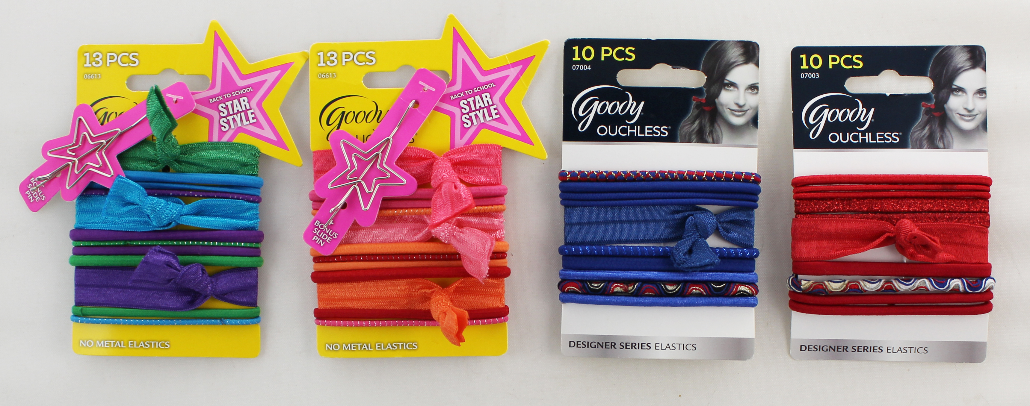 Goody Ouchless Designer Series Elastics/Back to School Star Style Mix