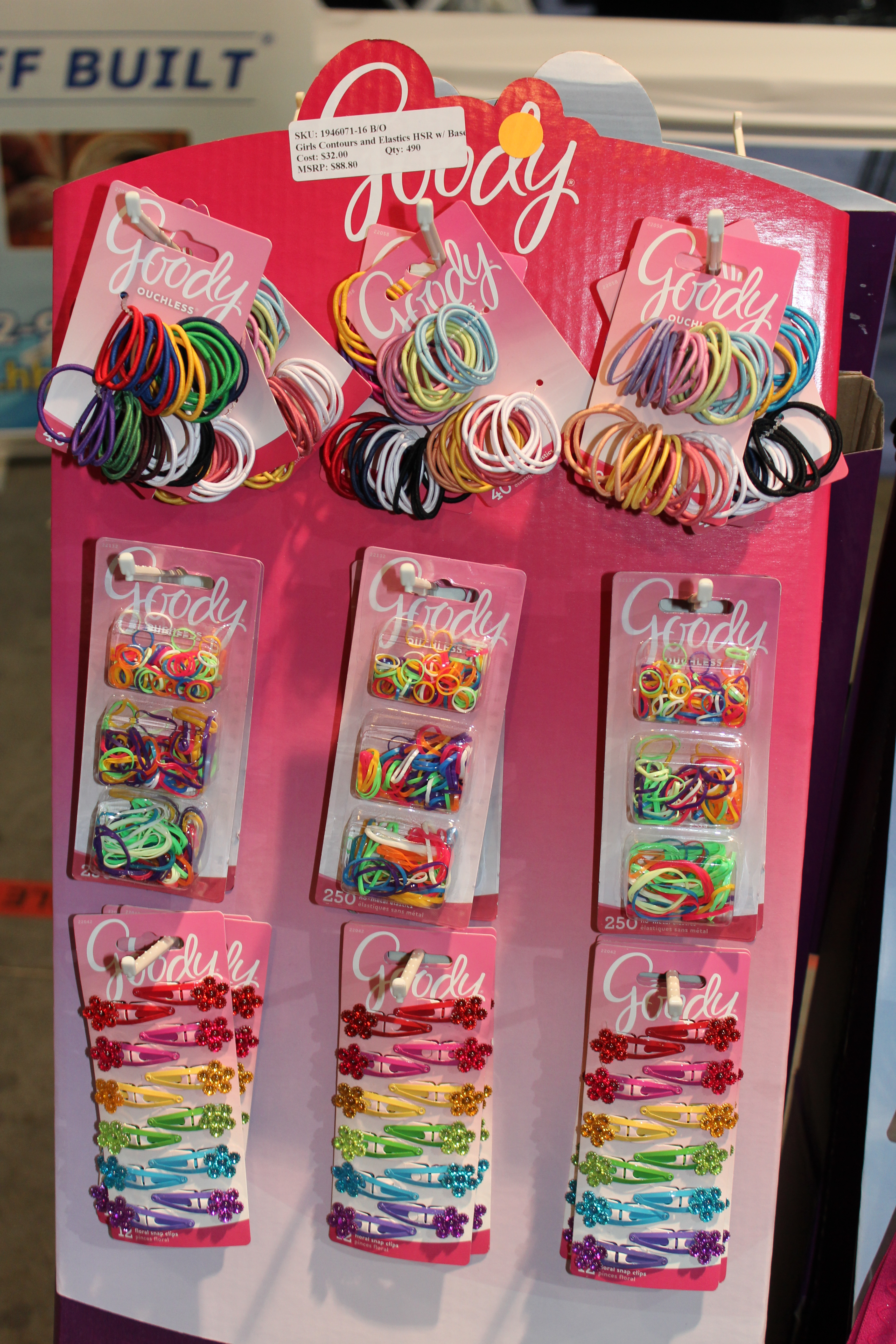 Goody Girls Contours and Elastics Half Side Rack Display of 24 Items