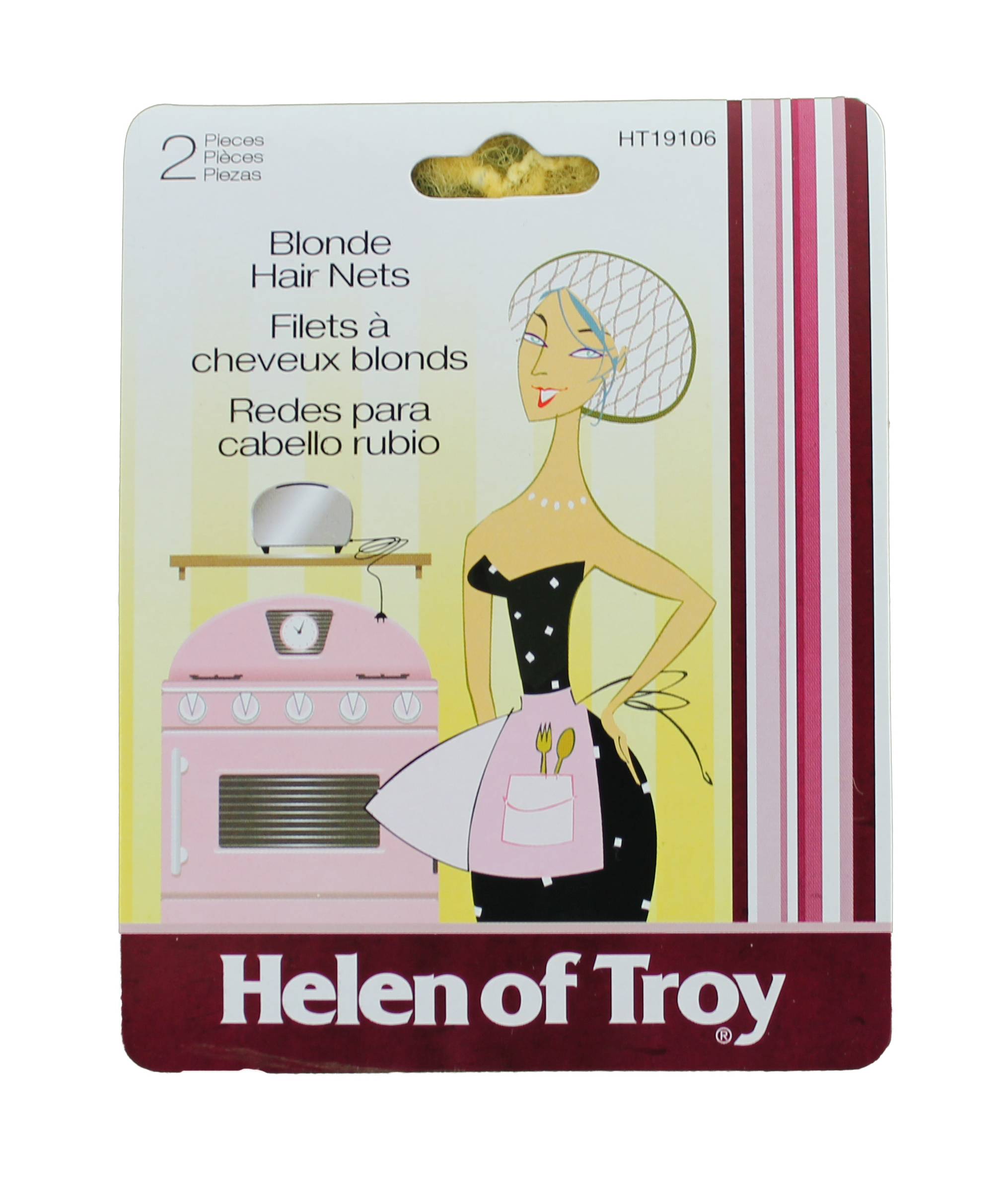 2 Piece Blonde Hair Nets, Helen of Troy