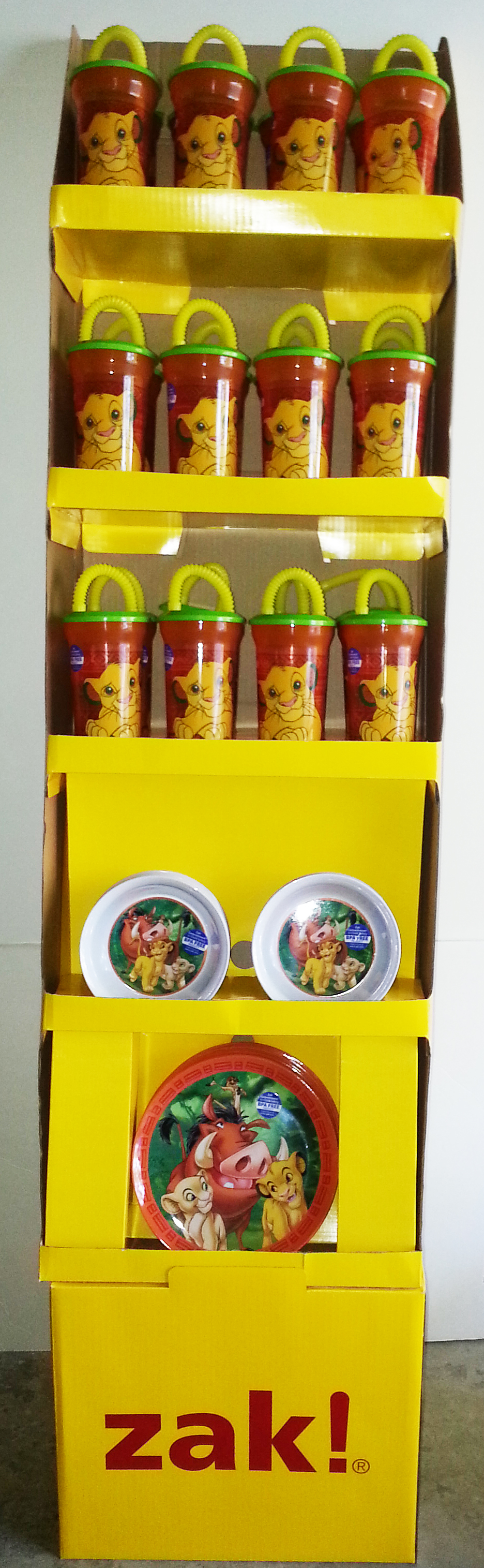 Lion King cup, bowl, plate FLoor Standing Display 60 Count