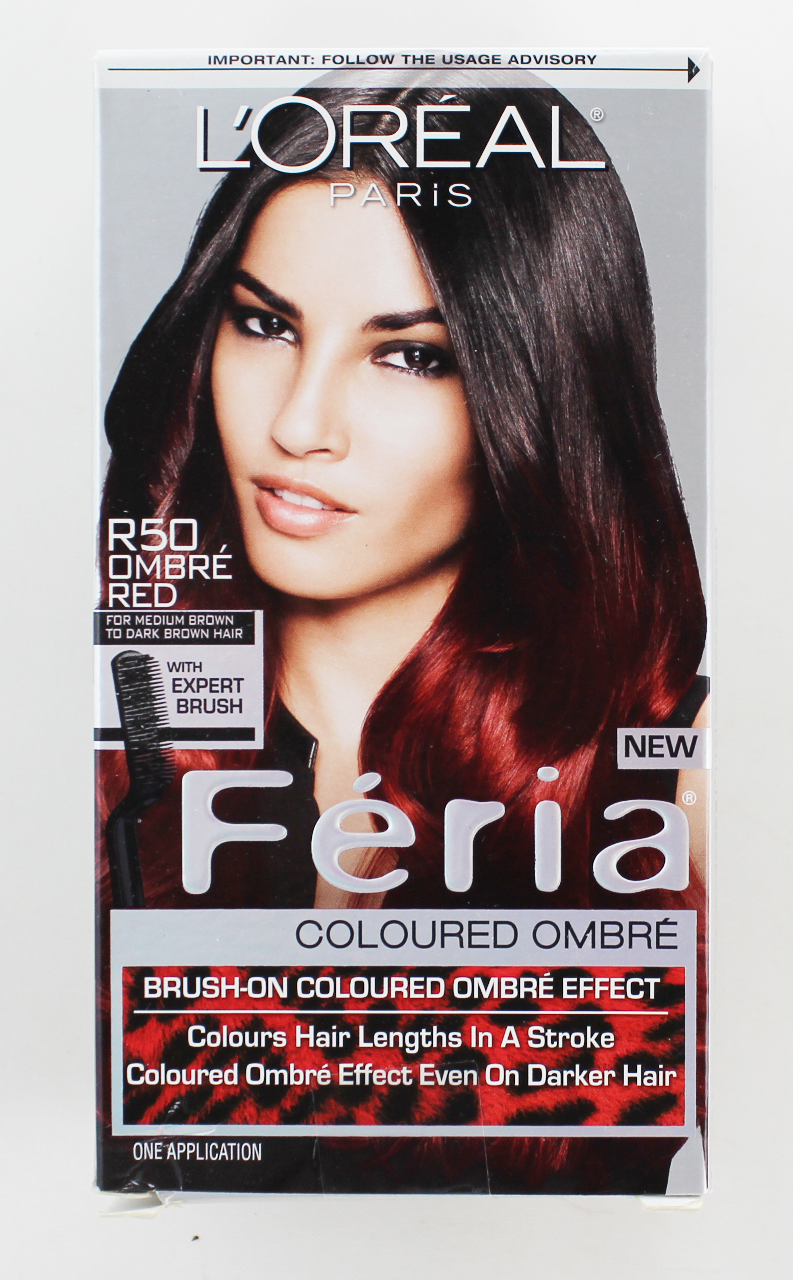 Loreal Feria Brush On Ombre Effect Hair Color R50 Ombre Red