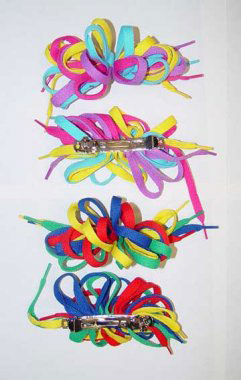 Vibrant Shoelace Hair Bow, 1ct (CCC)