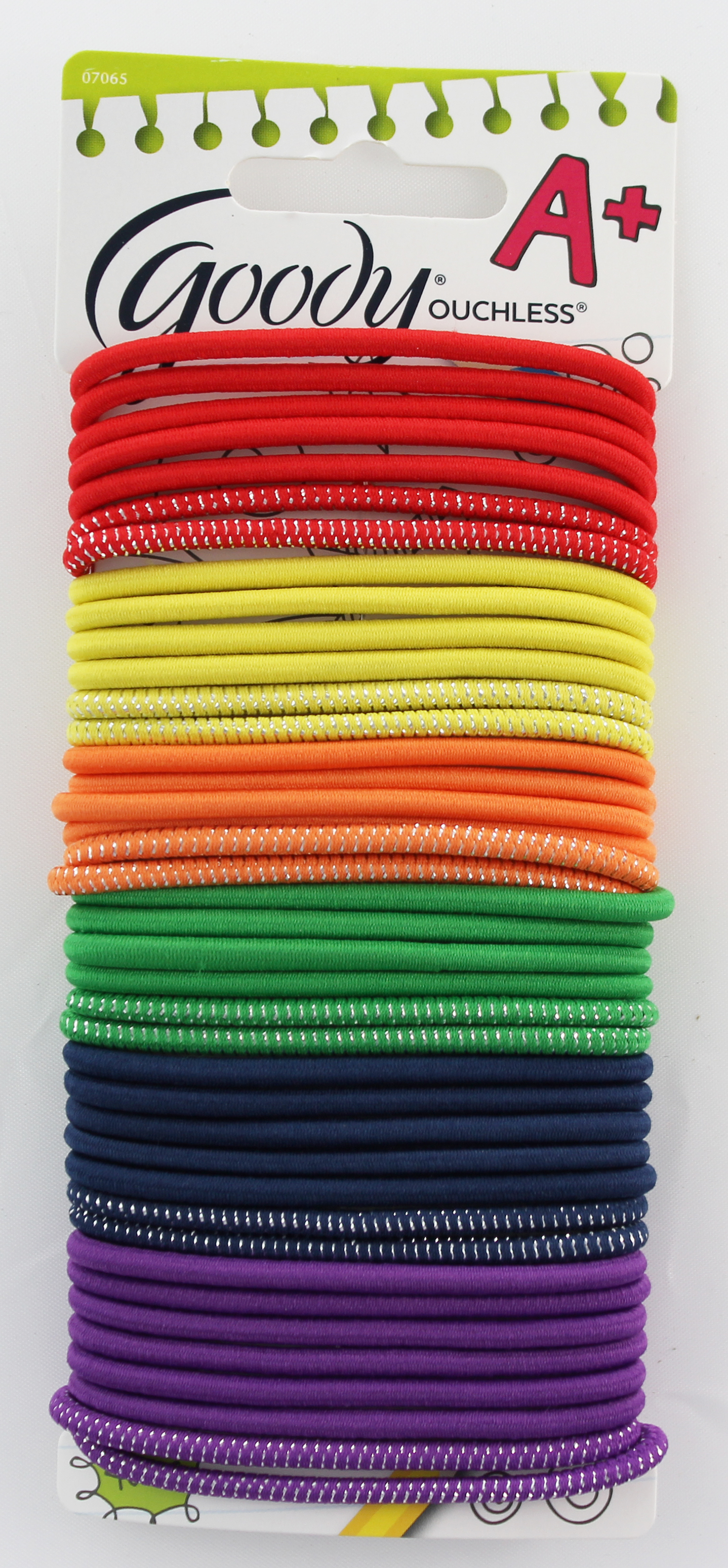 Goody Ouchless Assorted Color Elastic Fabric Hair Tie 1947407 07065
