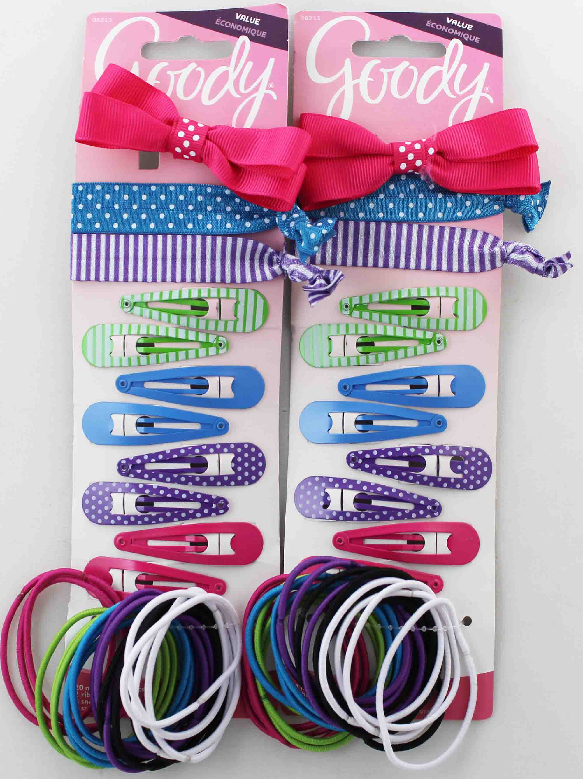 Goody No-Metal Elastics + Ribbon Elastics + Snap Clips + Salon Clip