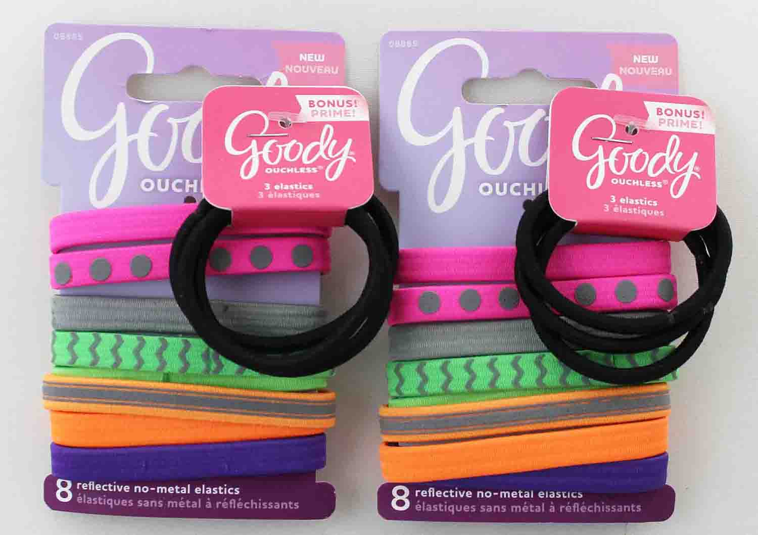 Goody Ouchless Reflective No-Metal Elastics 1953162 08885