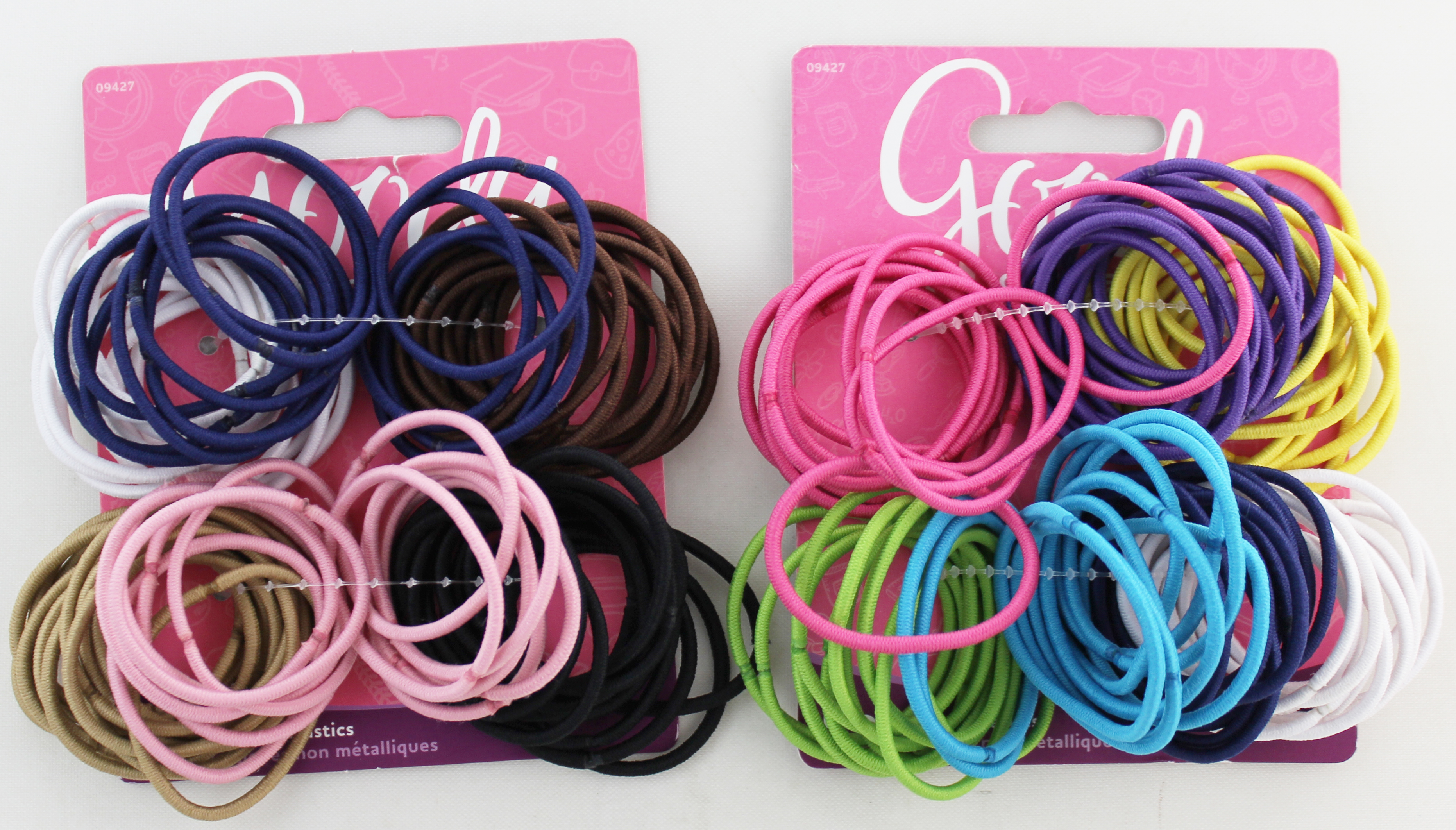 Goody Girls Ouchless Elastics, 2 mm, 72 Count (assorted color)
