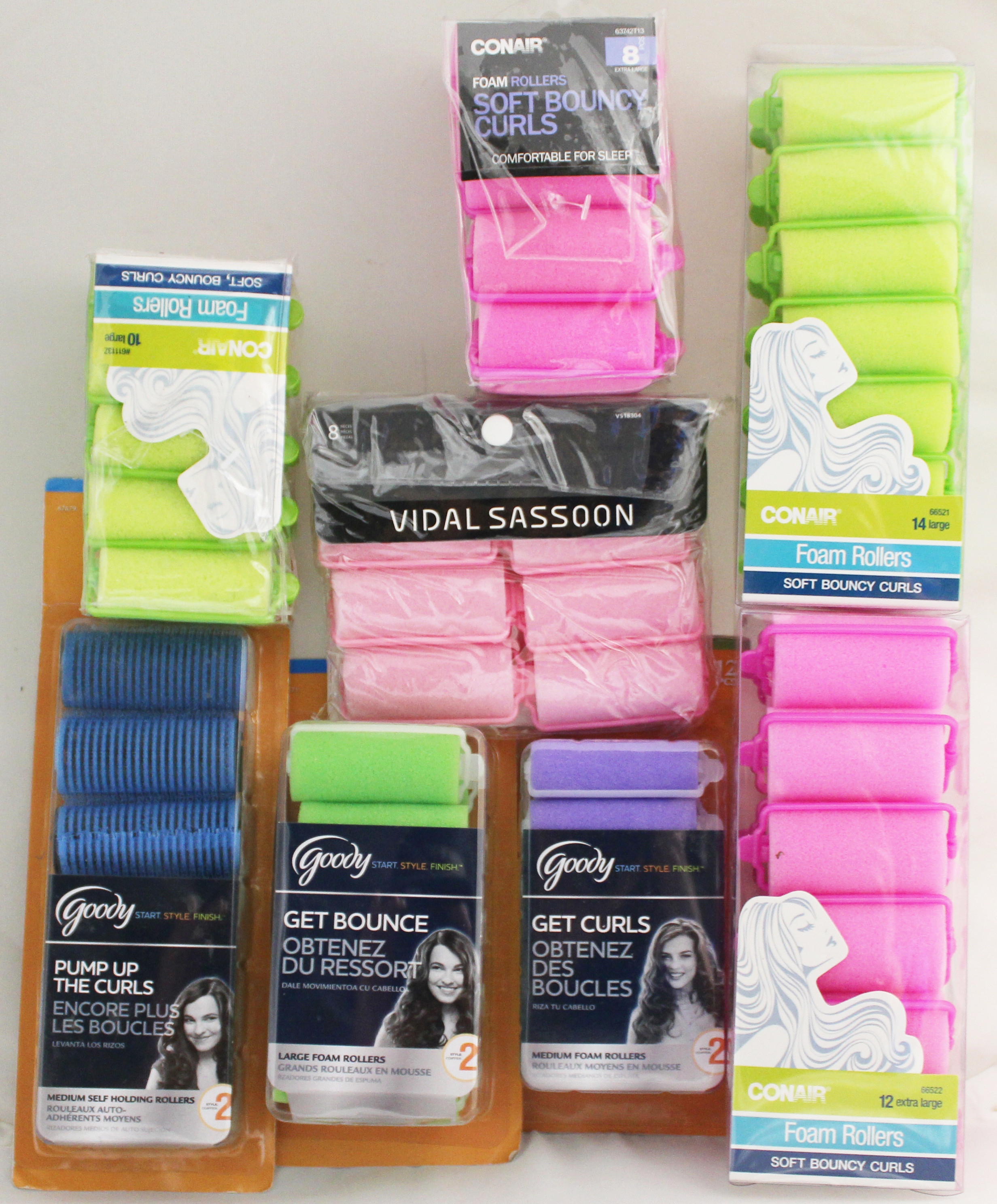 Goody Foam Hair Roller Variety 36-Pack Lot - 1 Count