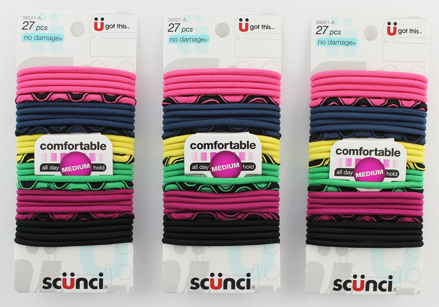 Scunci No Damage Elastic Ponytail Holders, 27 Ct, Multi Colors